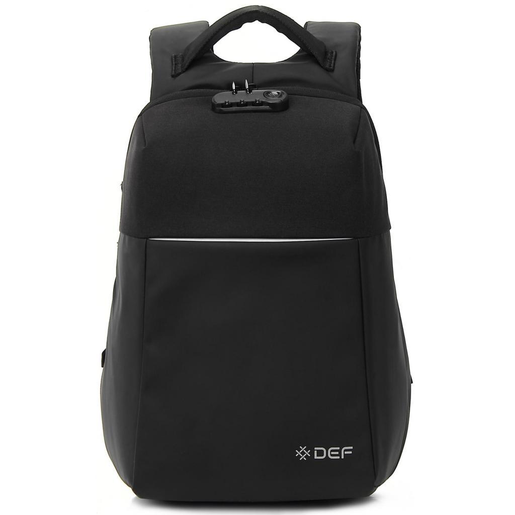 """Рюкзак для ноутбука DEF 15.6"""" DW-01 anti-theft black (378536) изображение 2"""