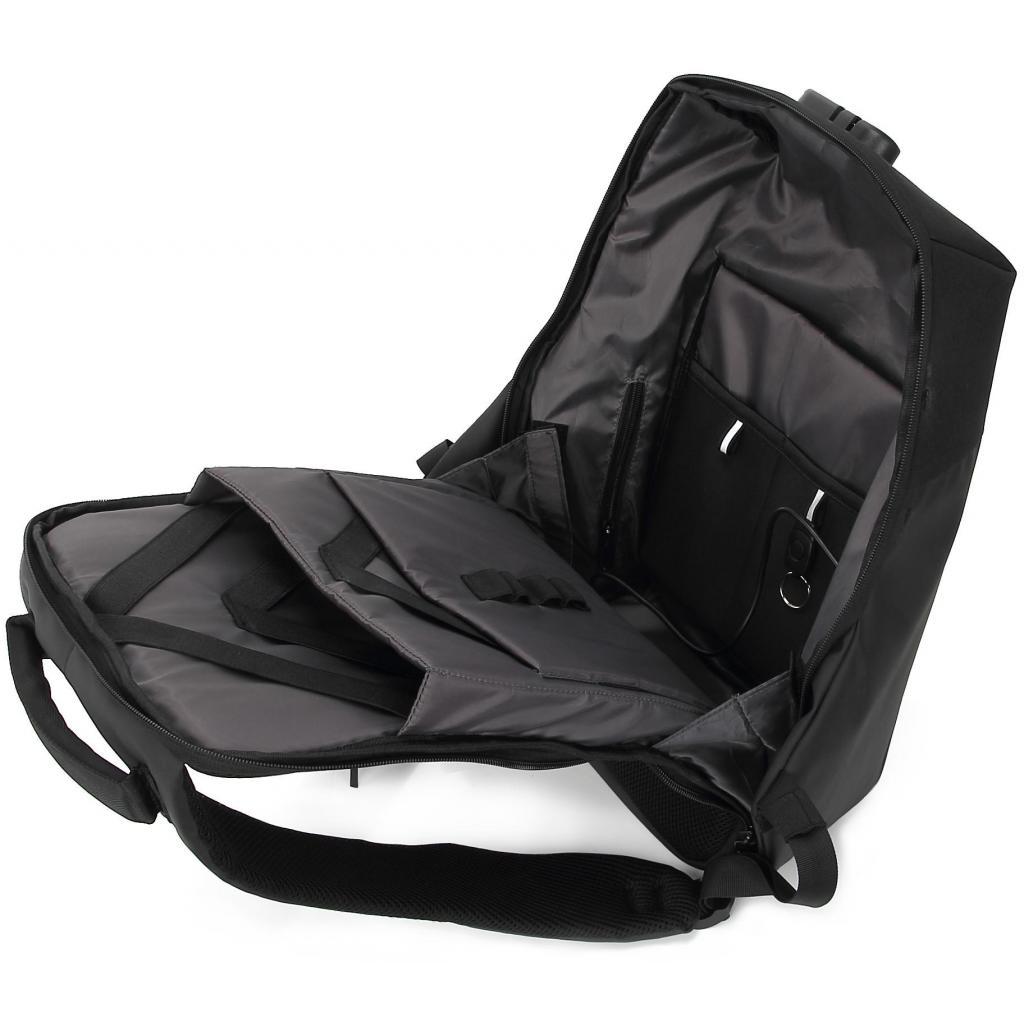 """Рюкзак для ноутбука DEF 15.6"""" DW-01 anti-theft black (378536) изображение 6"""