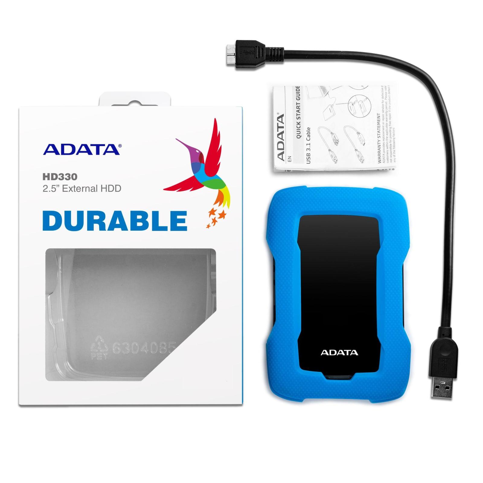 """Внешний жесткий диск 2.5"""" 1TB ADATA (AHD330-1TU31-CBL) изображение 6"""