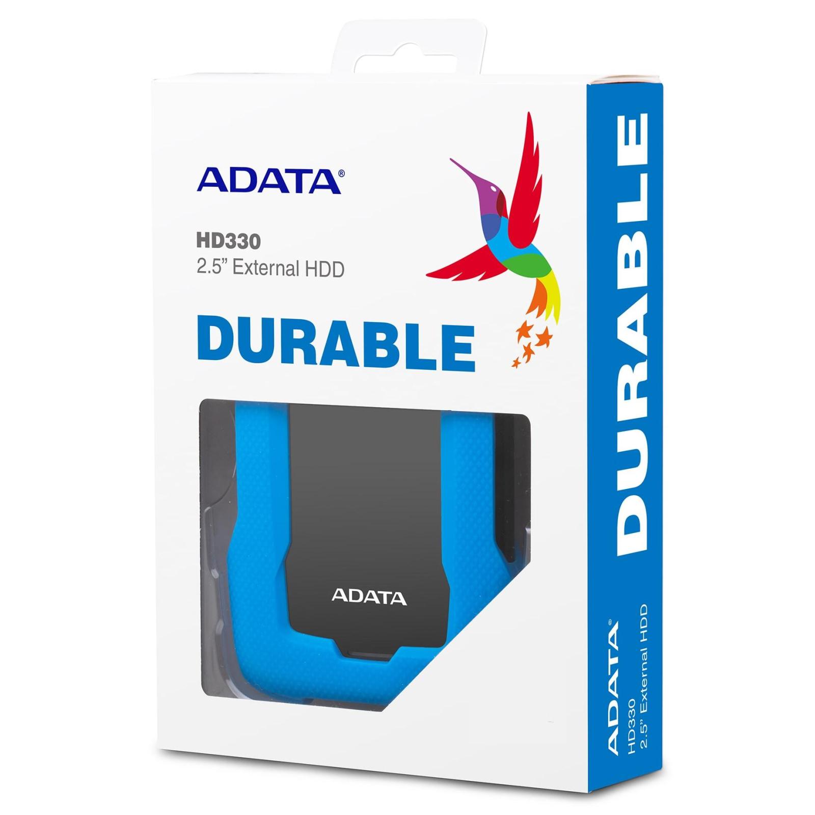 """Внешний жесткий диск 2.5"""" 1TB ADATA (AHD330-1TU31-CBL) изображение 7"""