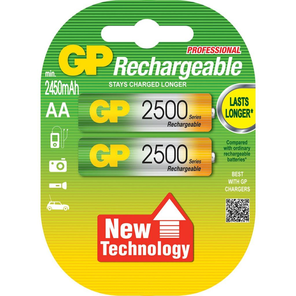 Аккумулятор AA R6 2500mAh * 2 GP (250AAHC-UC2/250AAHC-2UC2/GP250AAHCHP-2UC)