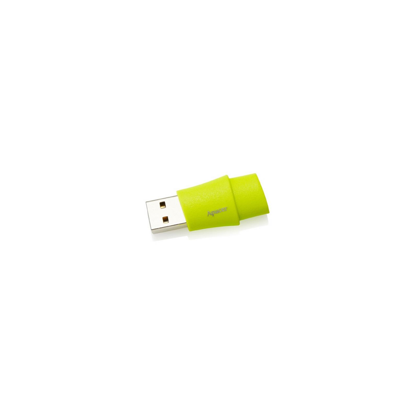 USB флеш накопитель 8GB AH137 Green RP USB2.0 Apacer (AP8GAH137G-1) изображение 2