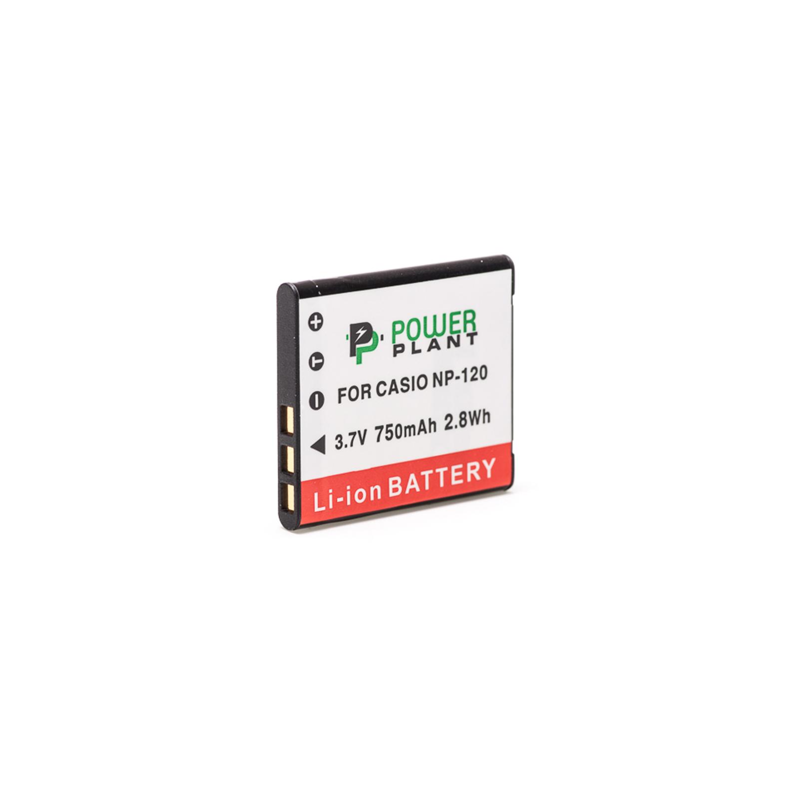 Аккумулятор к фото/видео PowerPlant Casio NP-120 (DV00DV1312) изображение 2