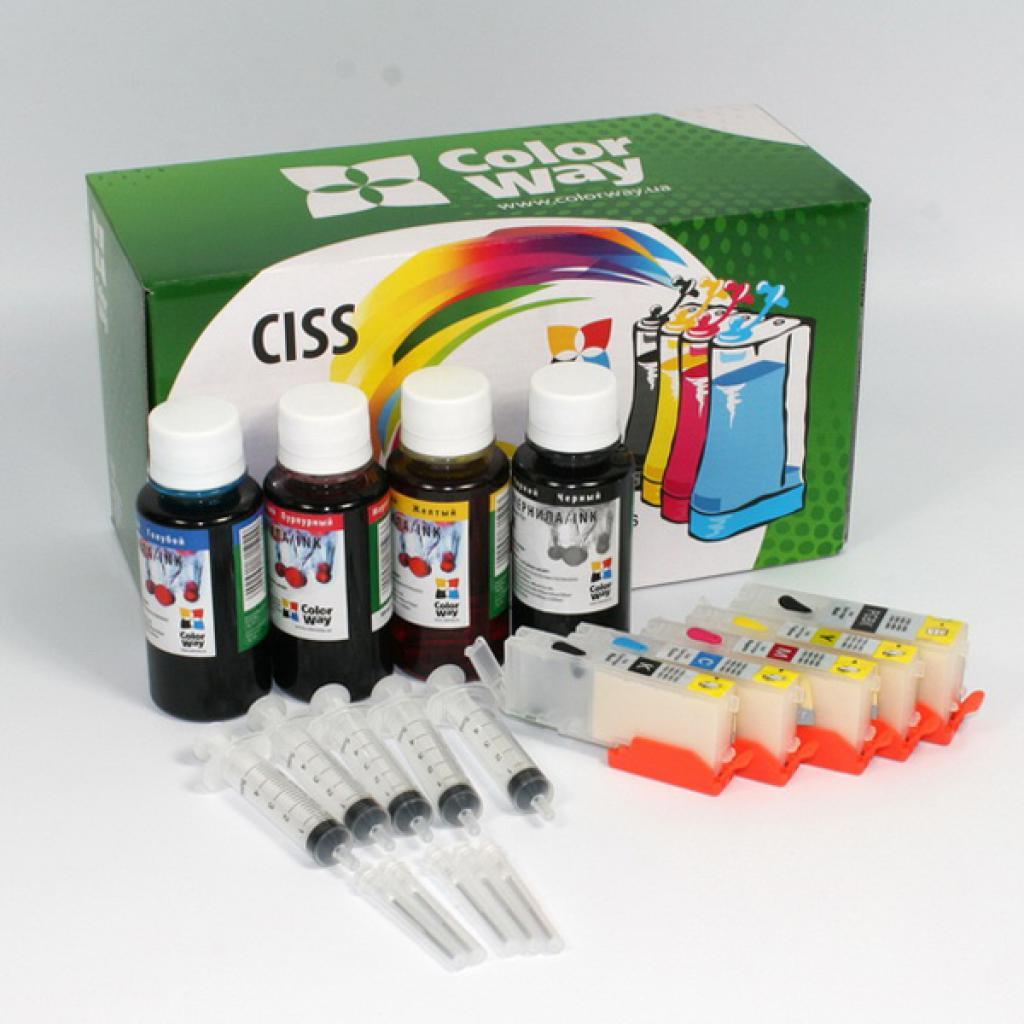 Комплект перезаправляемых картриджей ColorWay Canon IP7240/MG5440/5540/6440 chip (IP7240RC-5.1)
