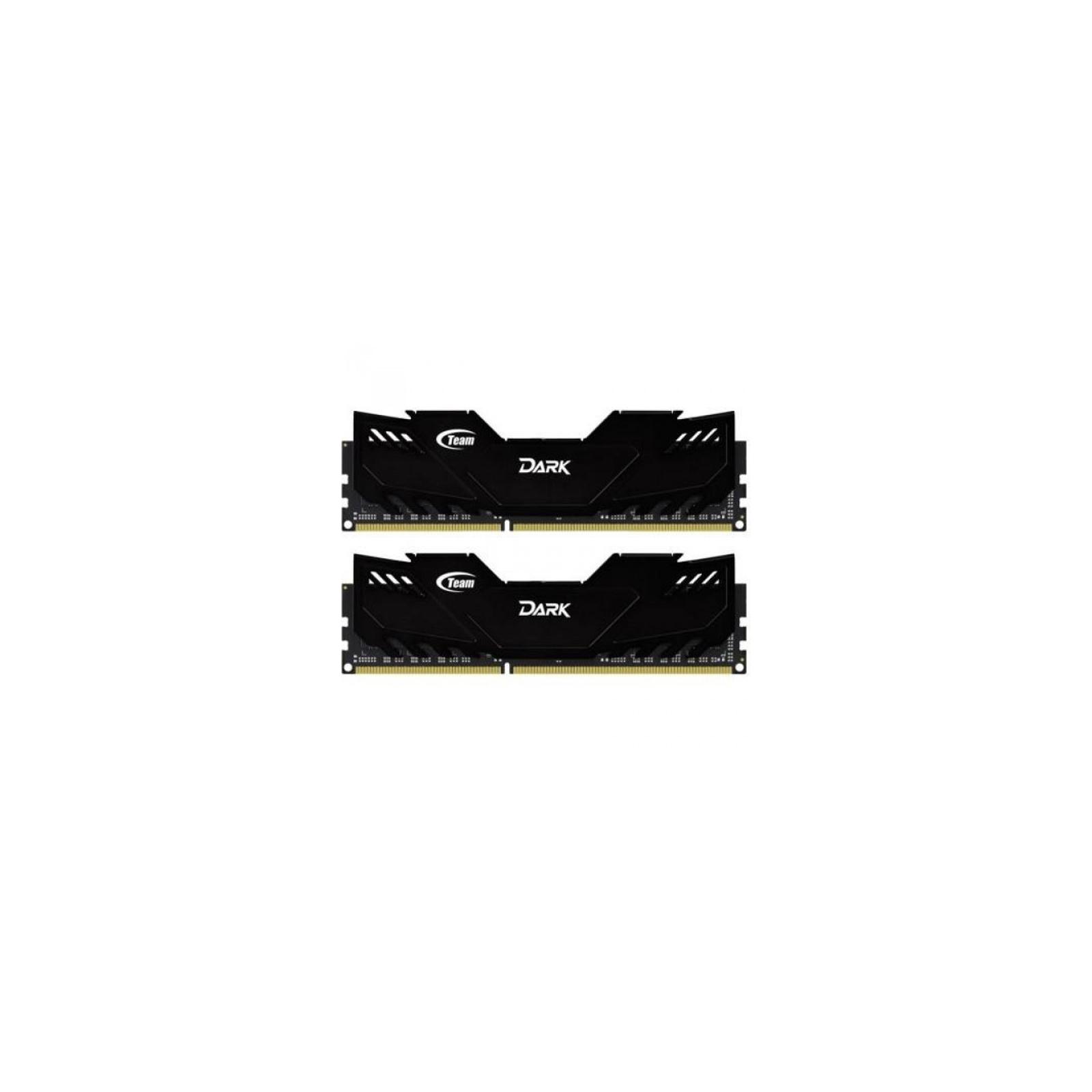 Модуль памяти для компьютера DDR4 16GB (2x8GB) 3000 MHz Dark Black Team (TDKED416G3000HC16ADC01)