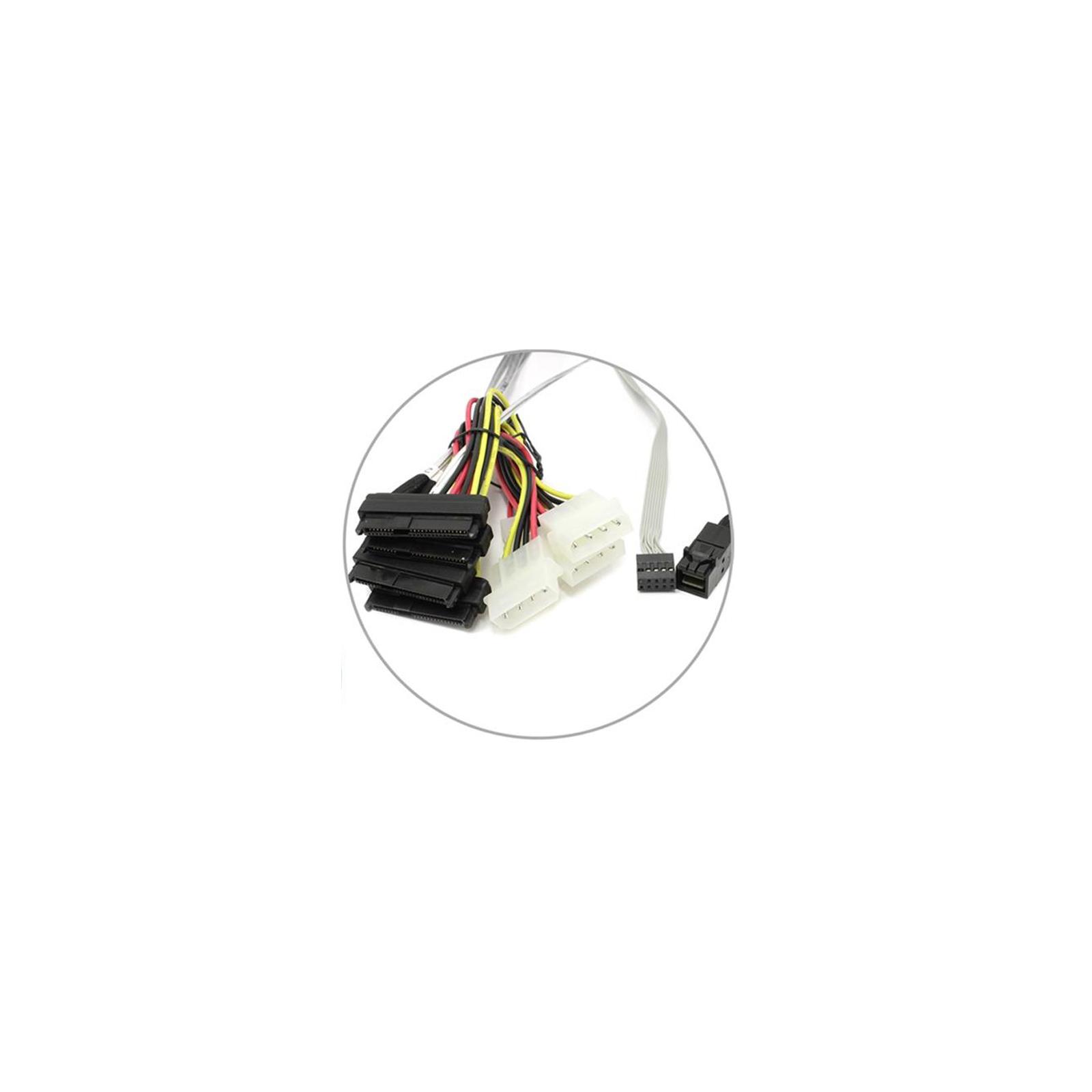 Кабель для передачи данных Adaptec ACK-I-HDmSAS-4SAS-SB-0.8M 2280100-R изображение 2