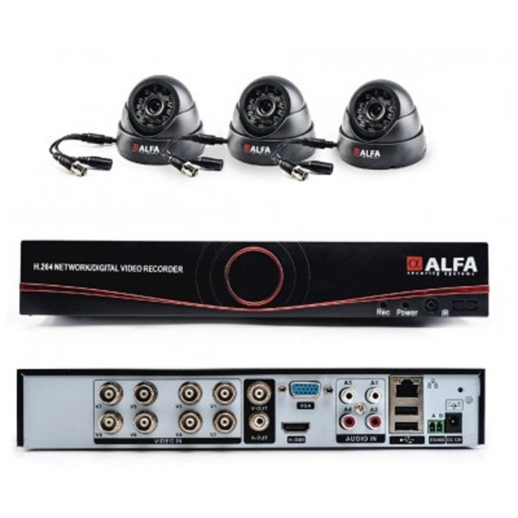 Комплект видеонаблюдения ALFA Indoors 3