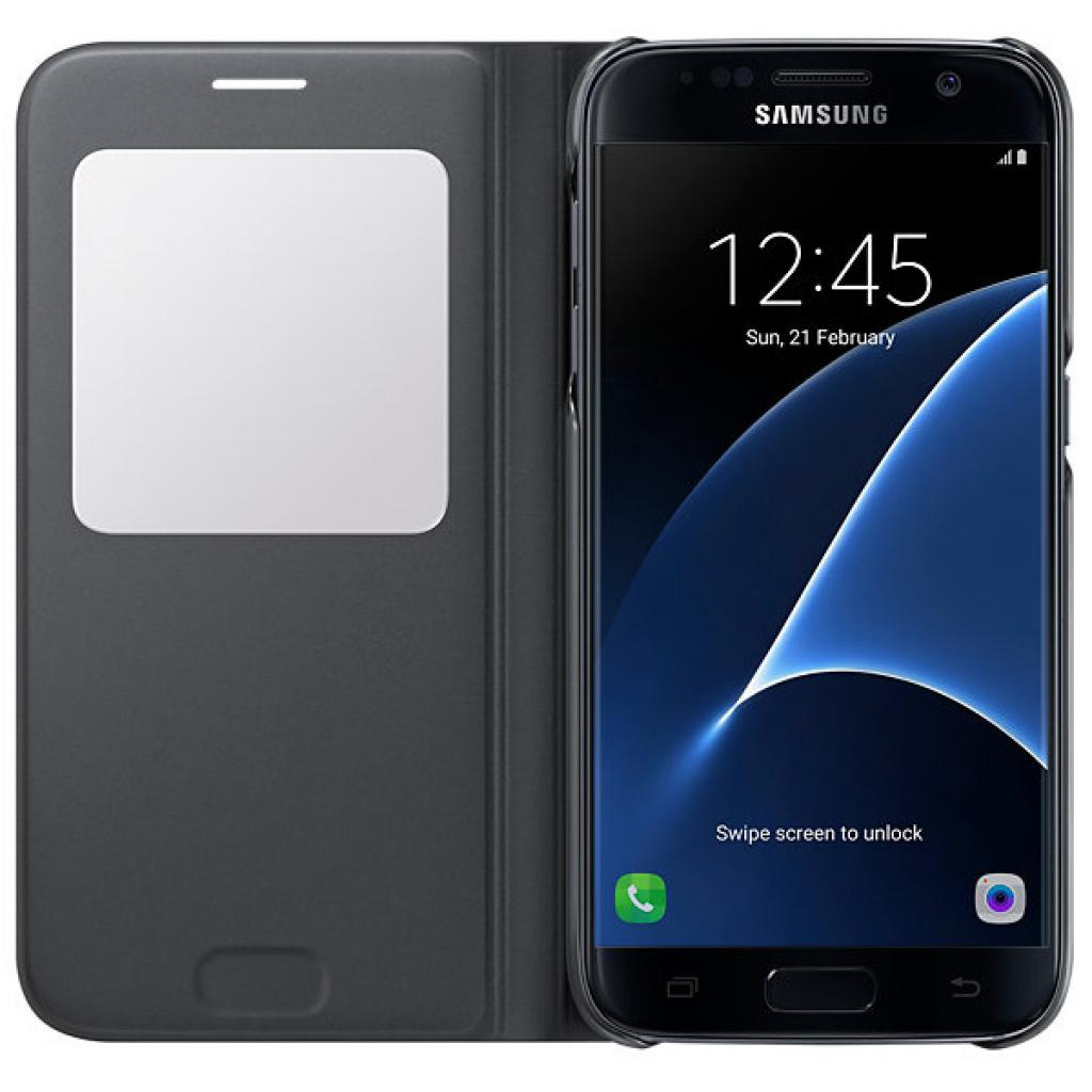 Чехол для моб. телефона Samsung S Galaxy S7/Black/View Cover (EF-CG930PBEGRU) изображение 3