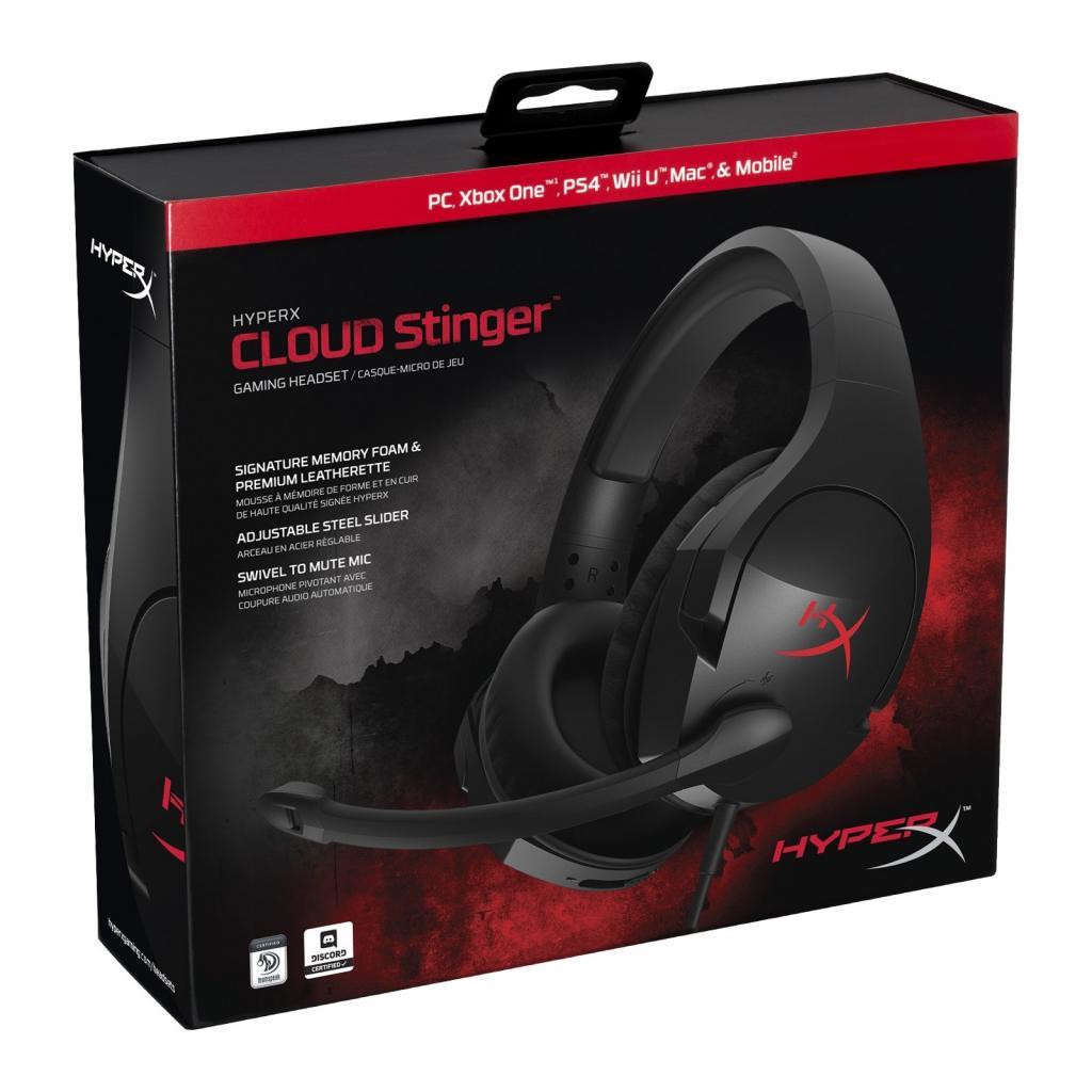 Навушники HyperX Cloud Stinger Gaming Headset Black (HX-HSCS-BK/EM / HX-HSCS-BK/EE) зображення 7