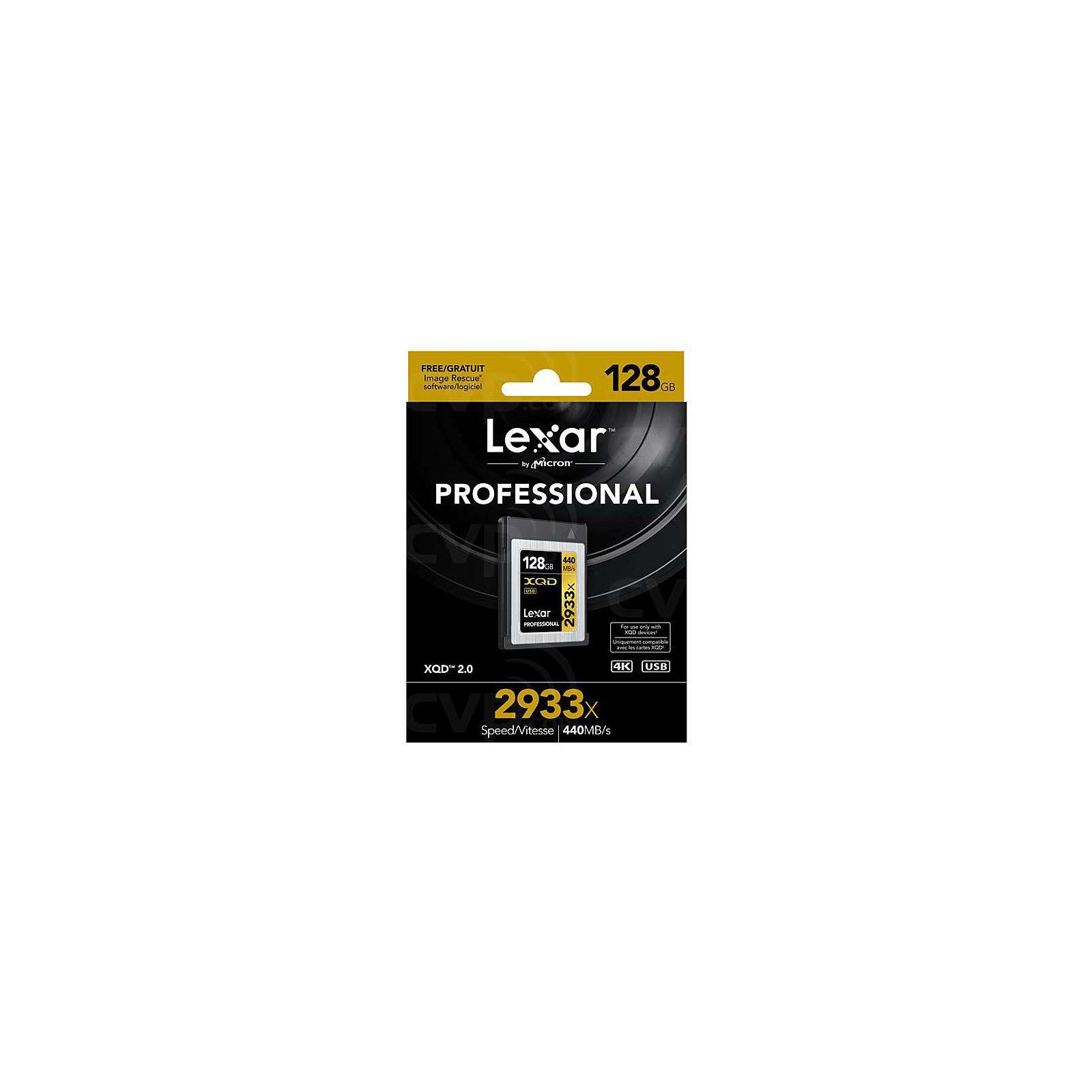 Карта пам'яті Lexar 128GB XQD 2933X Professional (LXQD128CRBEU2933) зображення 2