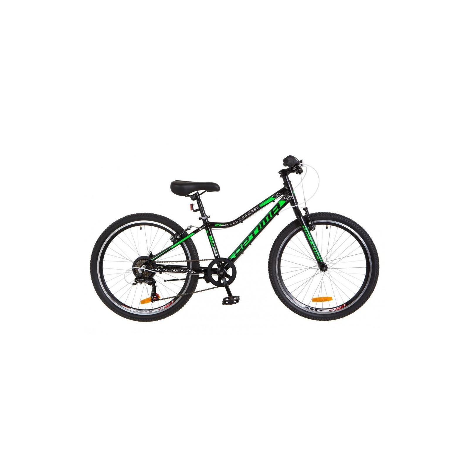 "Велосипед Optimabikes 24"" BLACKWOOD 2018 14G Vbr рама-12,5"" Al черно-зеленый (OPS-OP-24-028)"