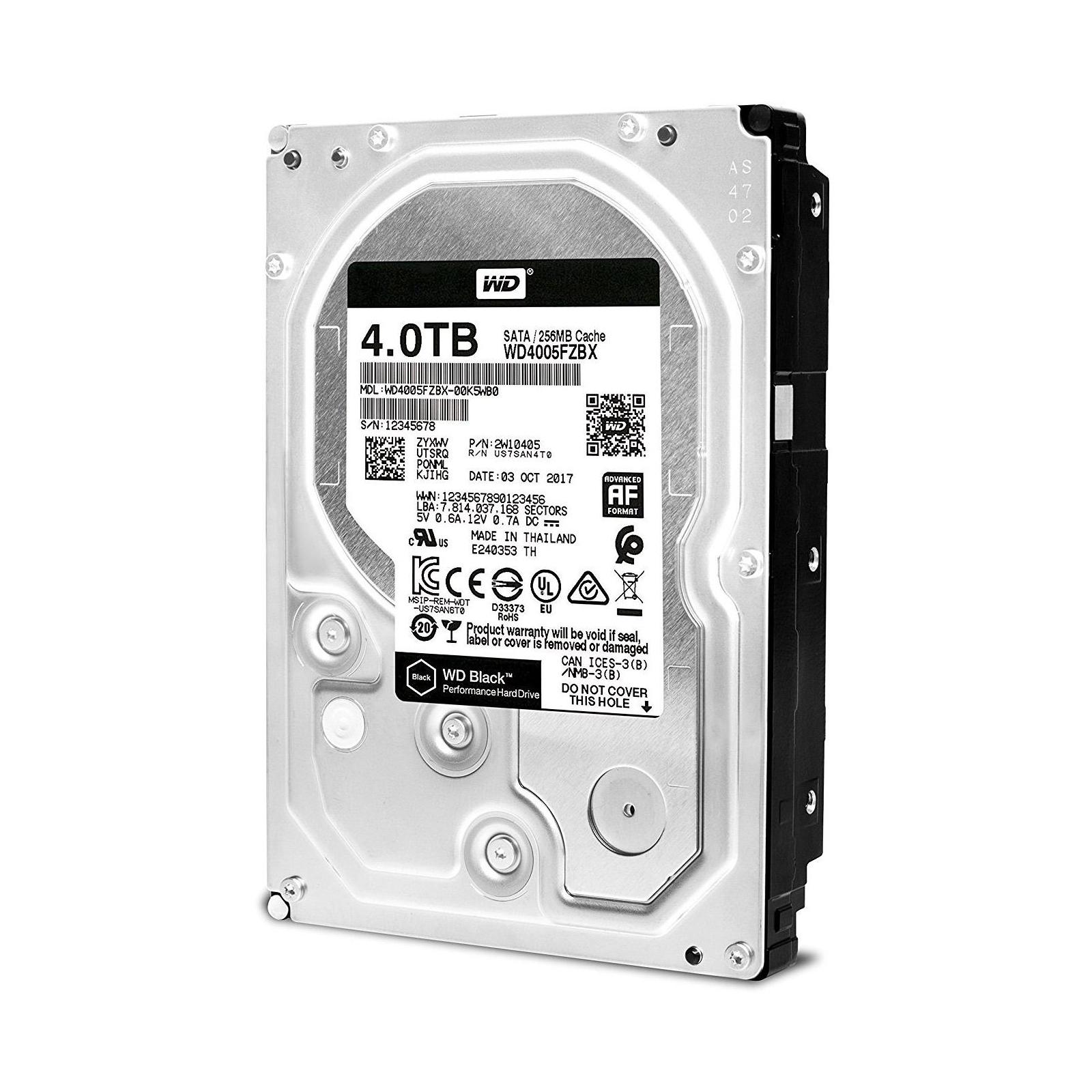 """Жесткий диск 3.5"""" 4TB WD (WD4005FZBX) изображение 3"""