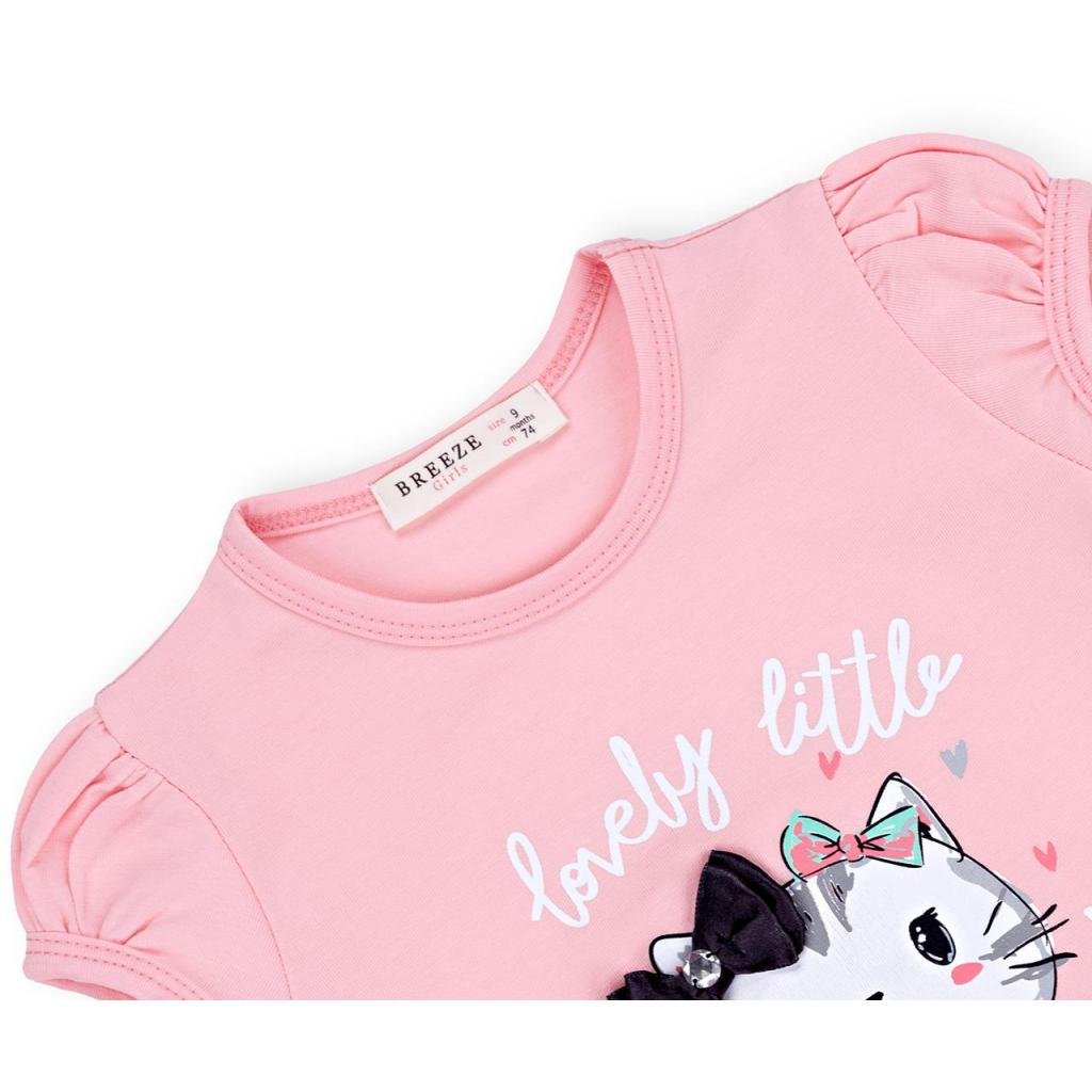 Набор детской одежды Breeze с котиками (7493-74G-pink) изображение 7
