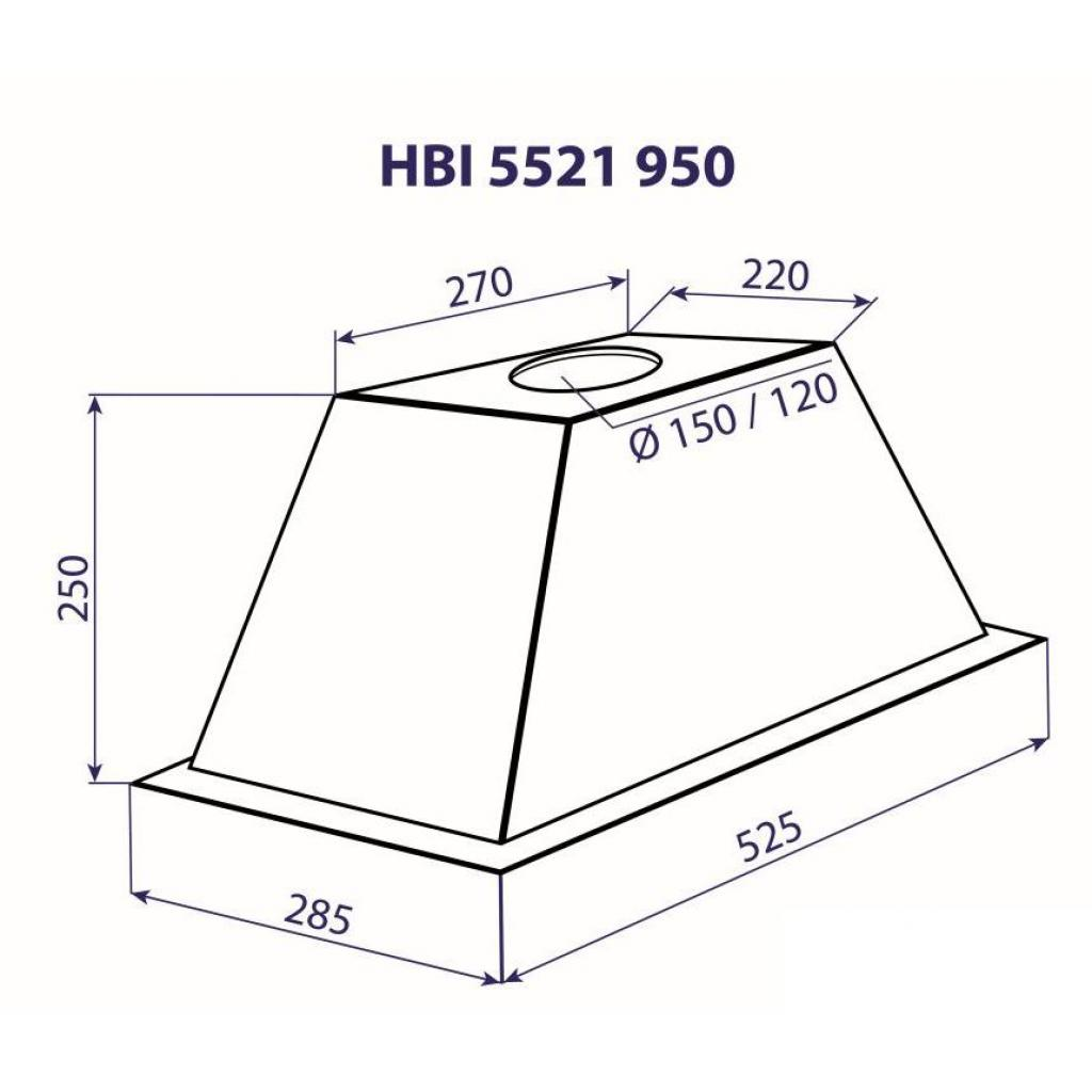 Вытяжка кухонная MINOLA HBI 5521 I 950 изображение 9