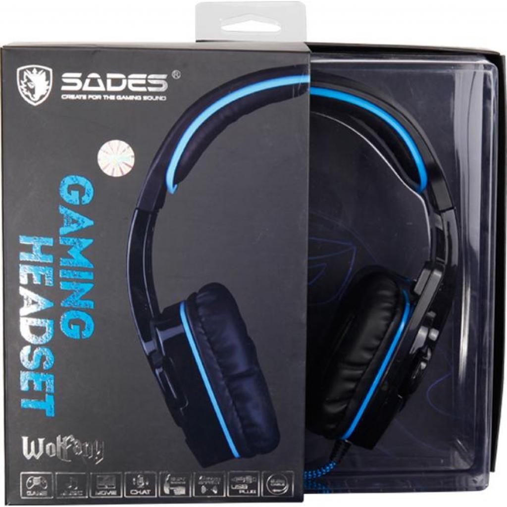 Наушники SADES Wolfang Black/Blue (SA901-B-BL) изображение 9