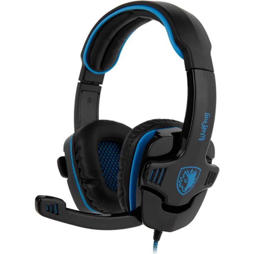 Наушники SADES Wolfang Black/Blue (SA901-B-BL)