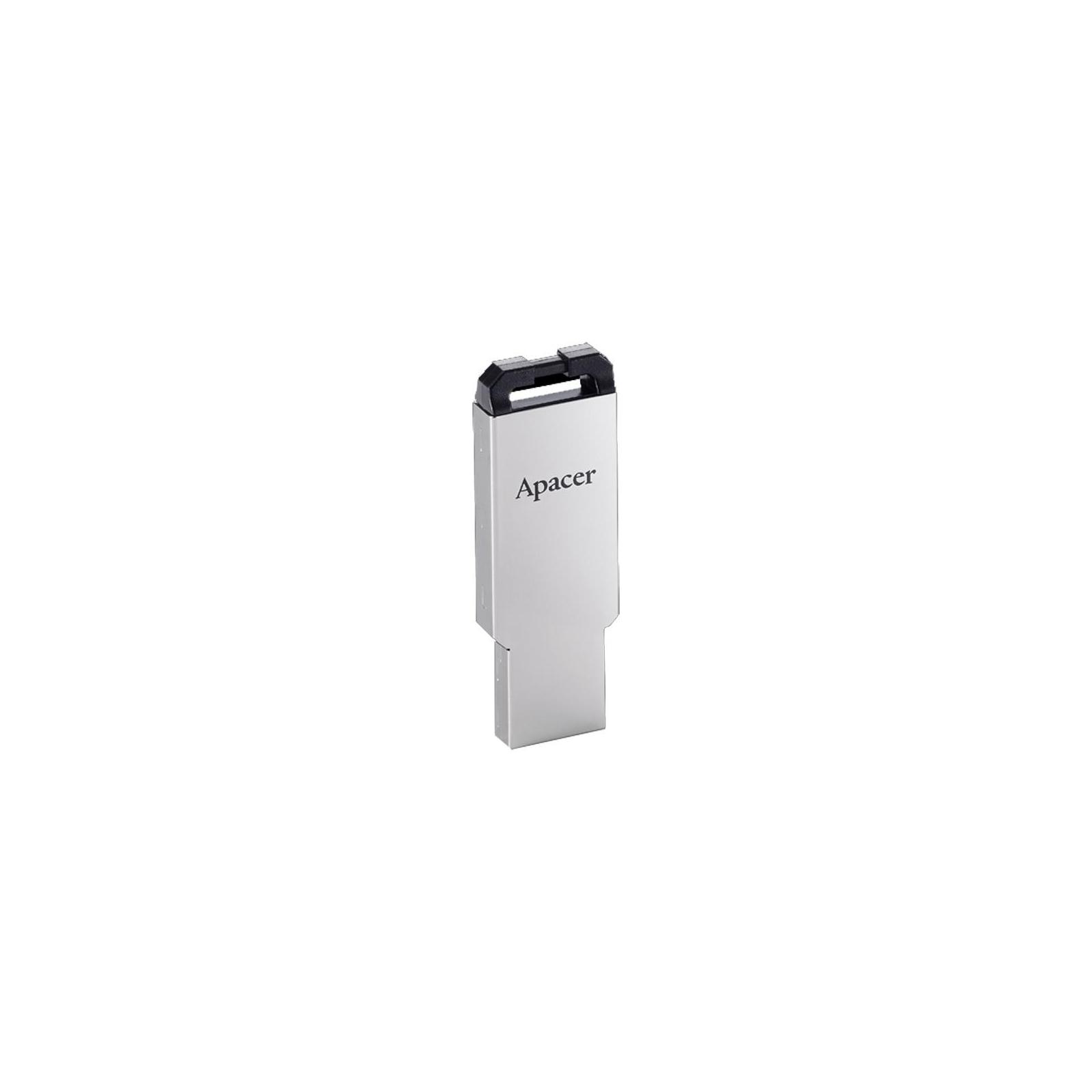 USB флеш накопитель Apacer 16GB AH310 Silver USB 2.0 (AP16GAH310S-1) изображение 2