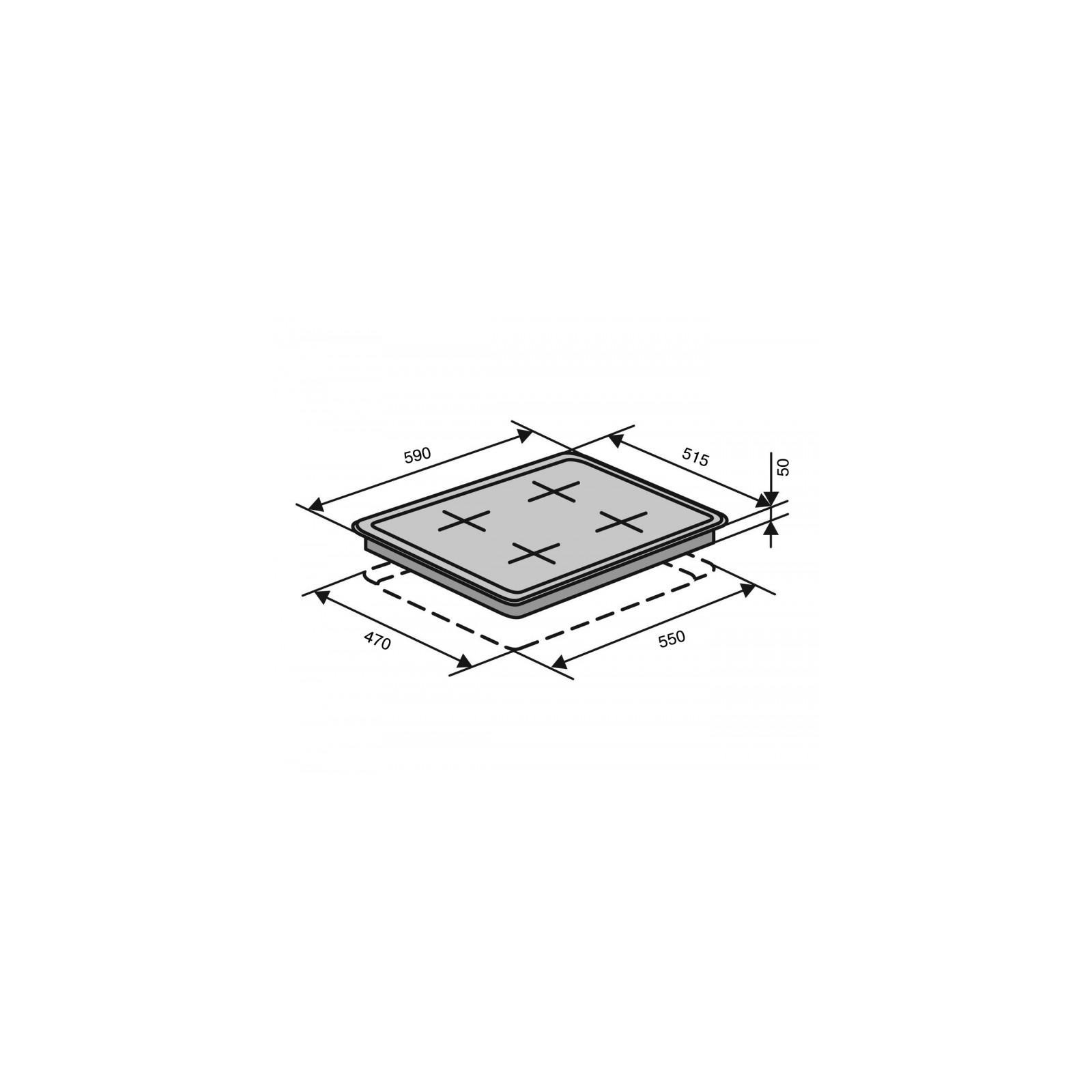 Варочная поверхность VENTOLUX HSF640-R3G CESBT (BK) изображение 7