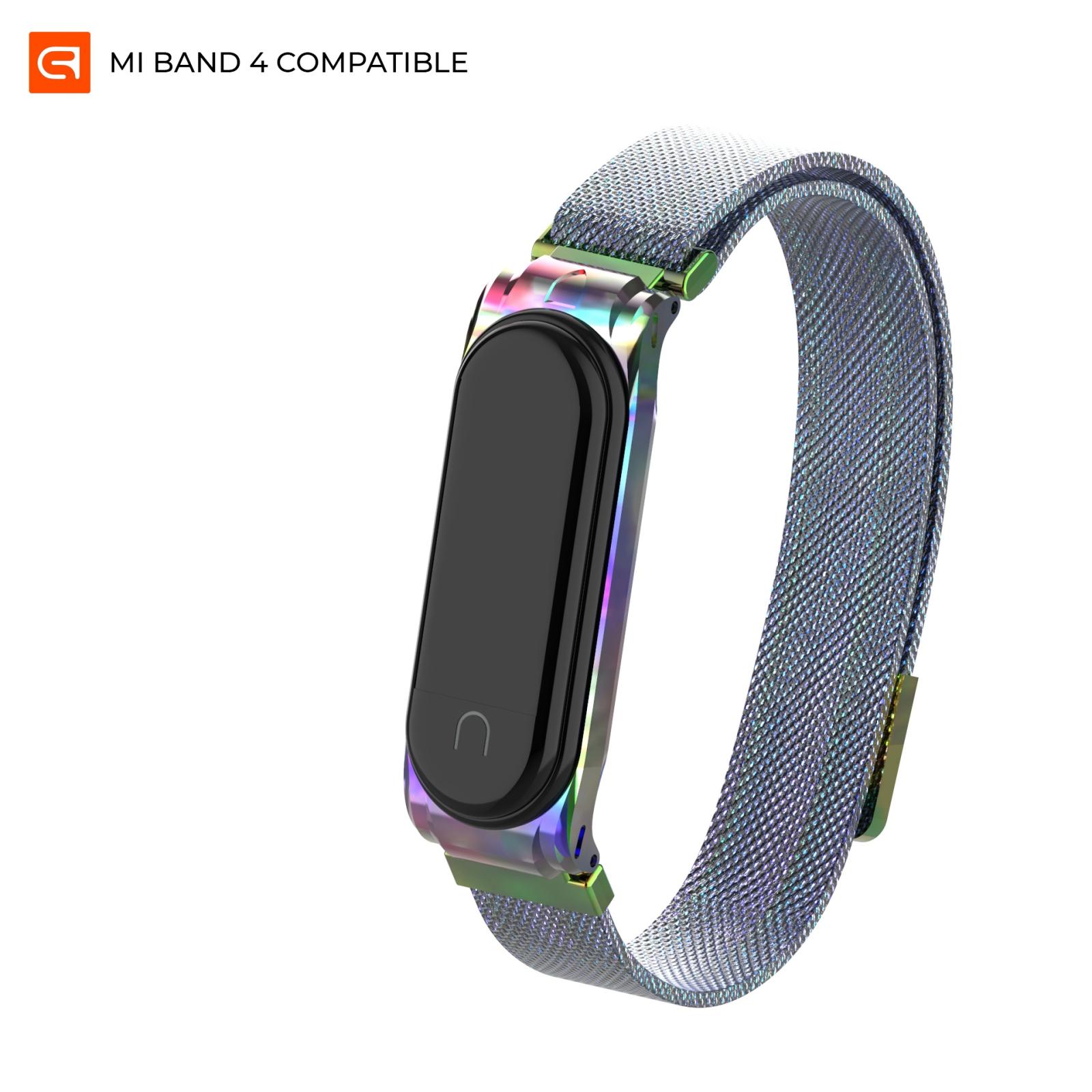 Ремешок для фитнес браслета Armorstandart Milanese Magnetic Band для Xiaomi Mi Band 4/3 Rainbow (ARM55033)