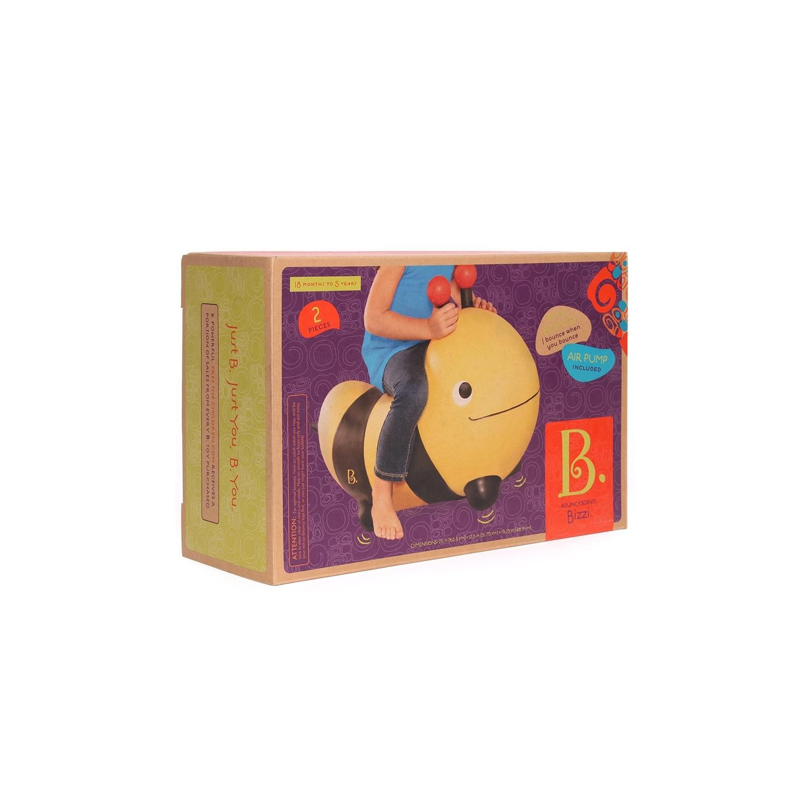 Качалка Battat Баттатопрыгун Пчела-ла-ла с насосом Черный с желтым (BX1455Z) изображение 4