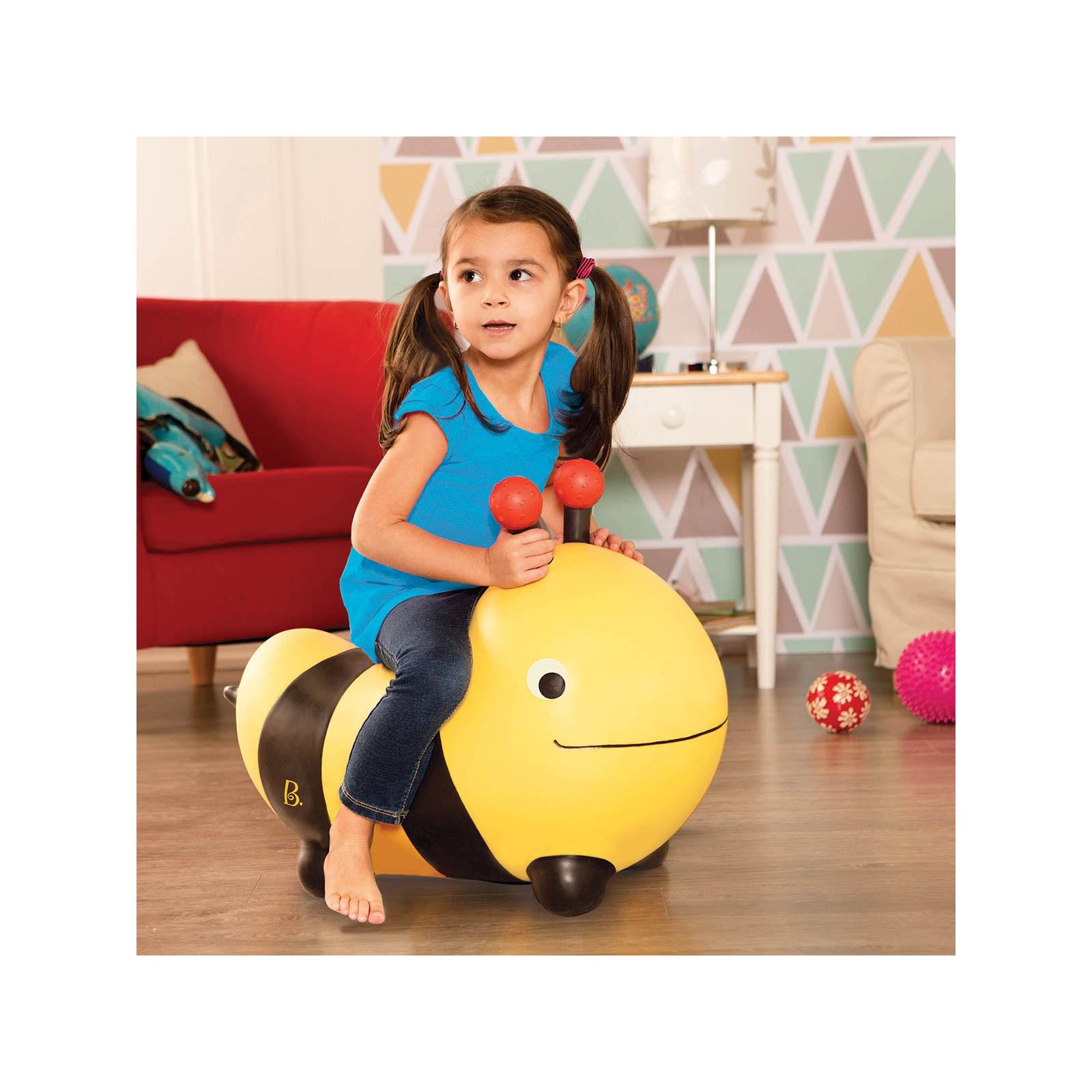 Качалка Battat Баттатопрыгун Пчела-ла-ла с насосом Черный с желтым (BX1455Z) изображение 5
