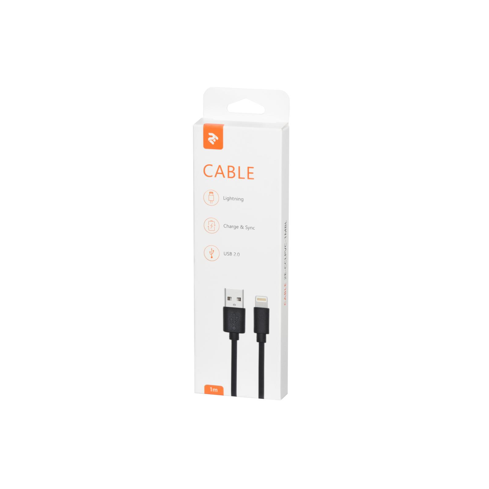 Дата кабель USB 2.0 AM to Lightning 1.0m white 2E (2E-CCLPVC-1MWT) изображение 2