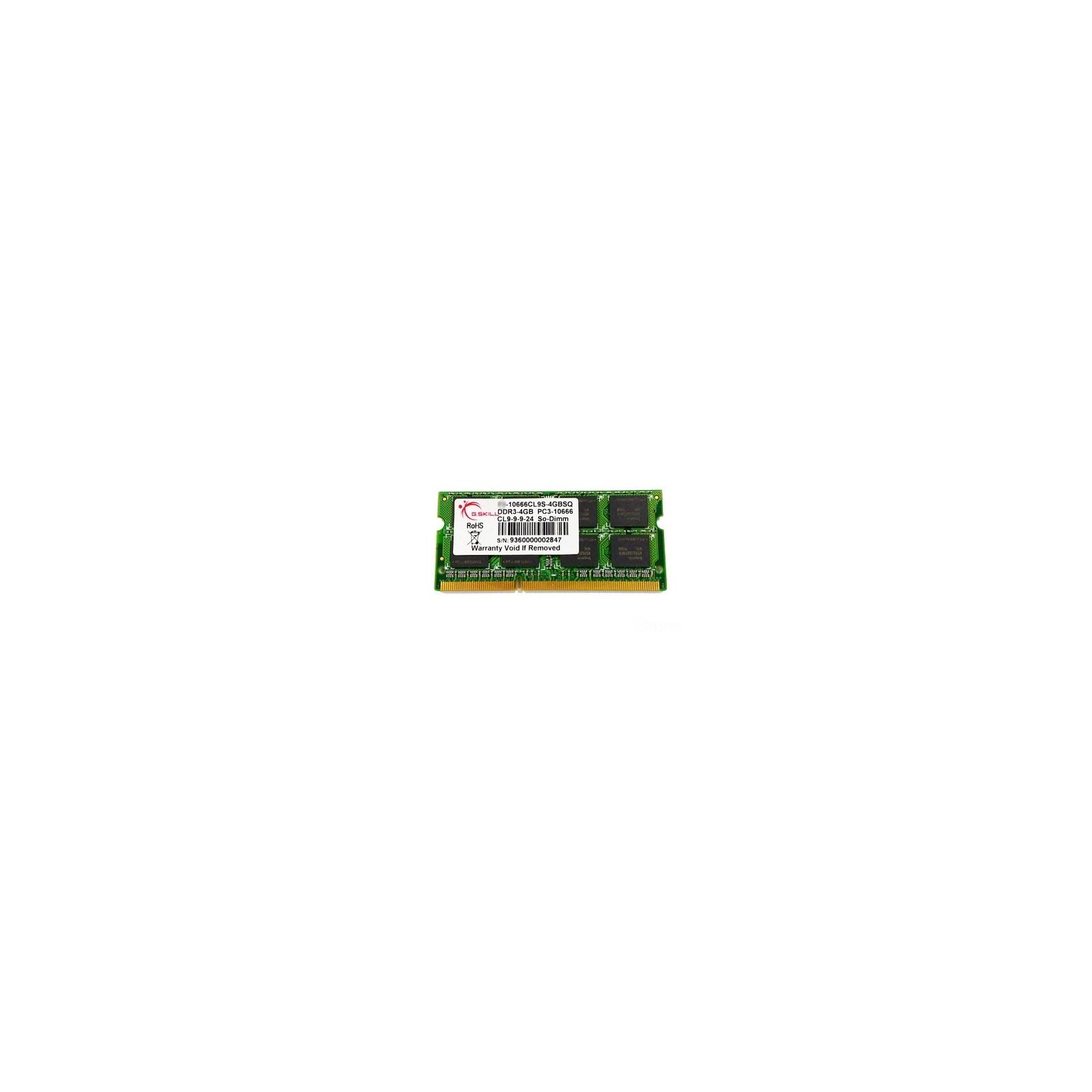 Модуль памяти для ноутбука SoDIMM DDR3 4GB 1333 MHz G.Skill (FA-10666CL9S-4GBSQ)
