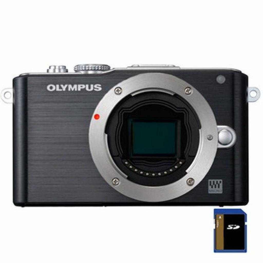 Цифровой фотоаппарат OLYMPUS PEN E-PL3 12-50 mm kit black/black (V20503FBE000)