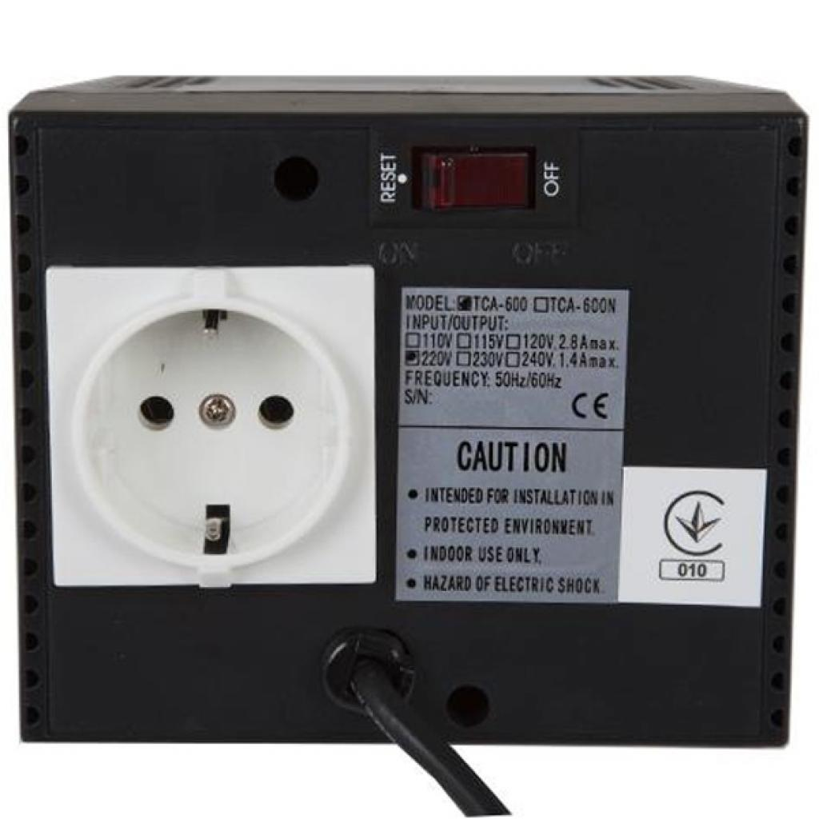Стабилизатор Powercom TCA-600 black изображение 3