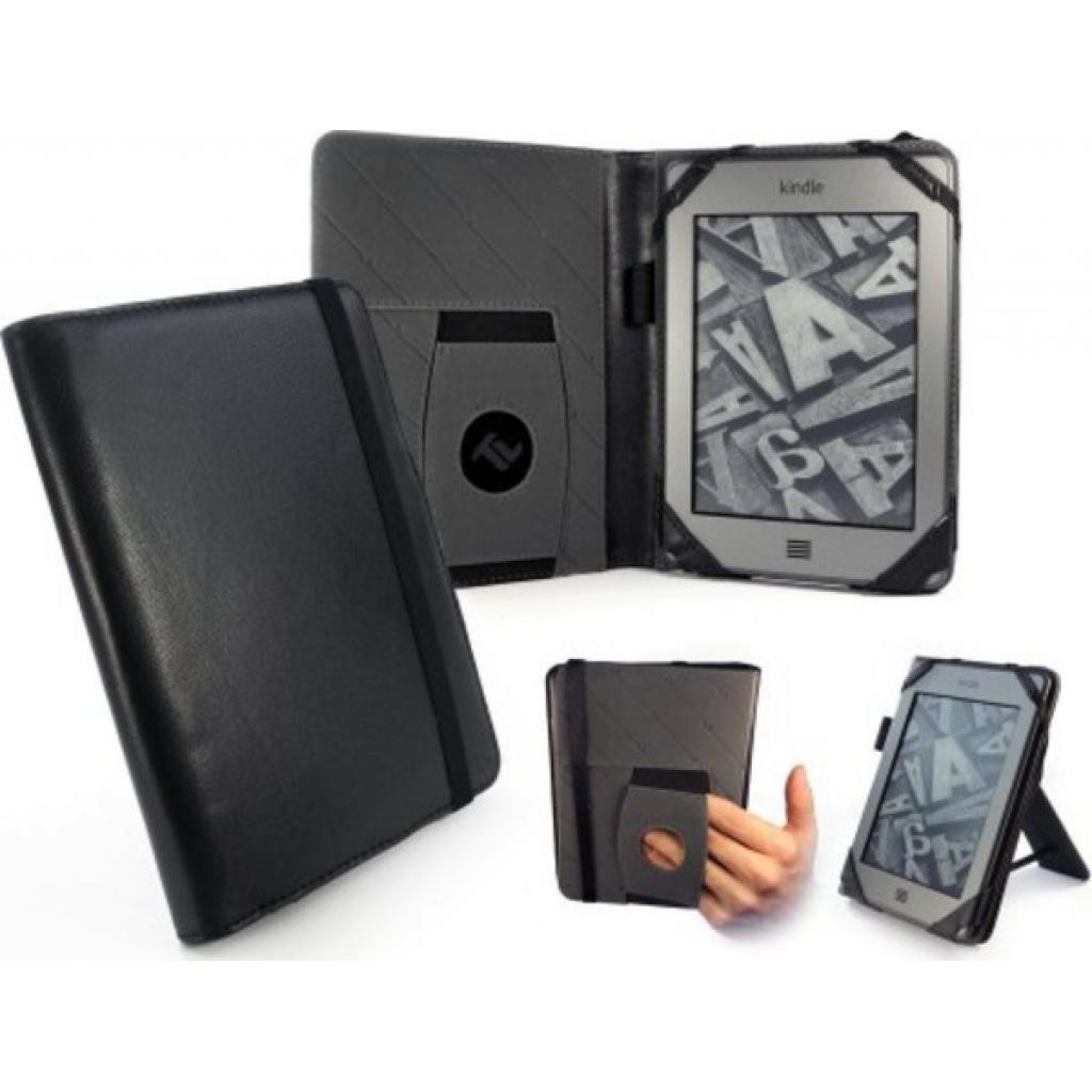Чехол для электронной книги Tuff-Luv 6 Embrace Plus Leather Napa Black (A10_40) изображение 6