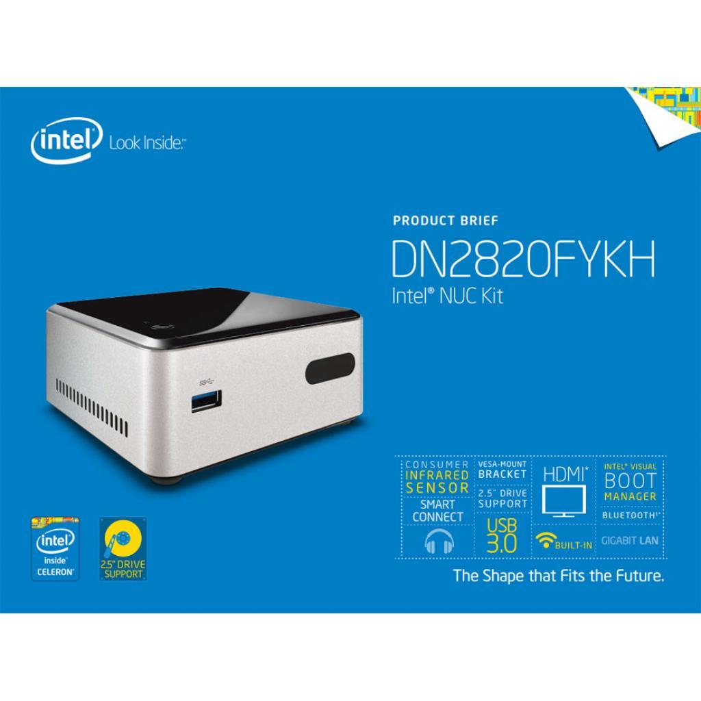 Компьютер INTEL NUC Cel N2820 (BOXDN2820FYKH0) изображение 5