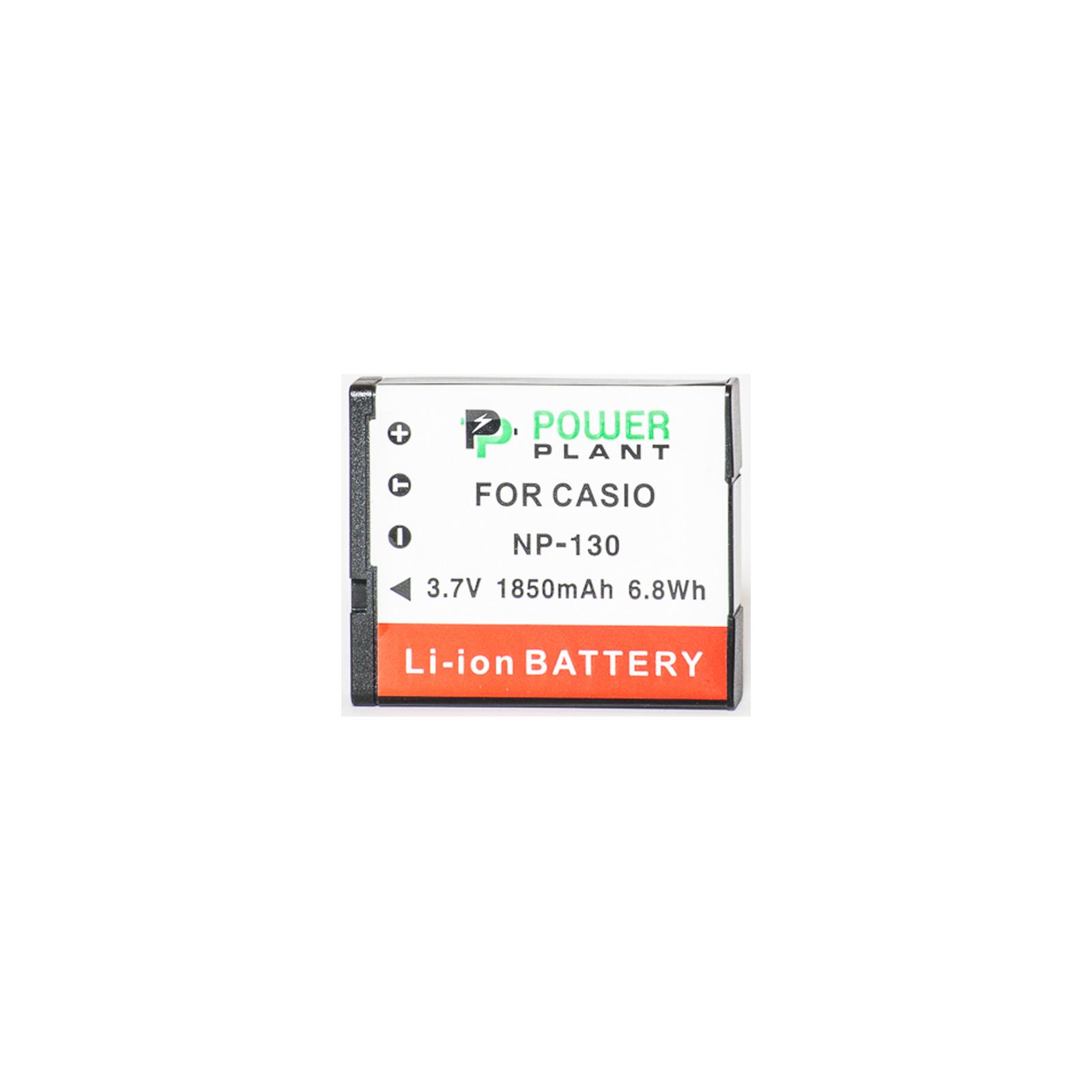 Аккумулятор к фото/видео PowerPlant Casio NP-130 (DV00DV1313) изображение 2