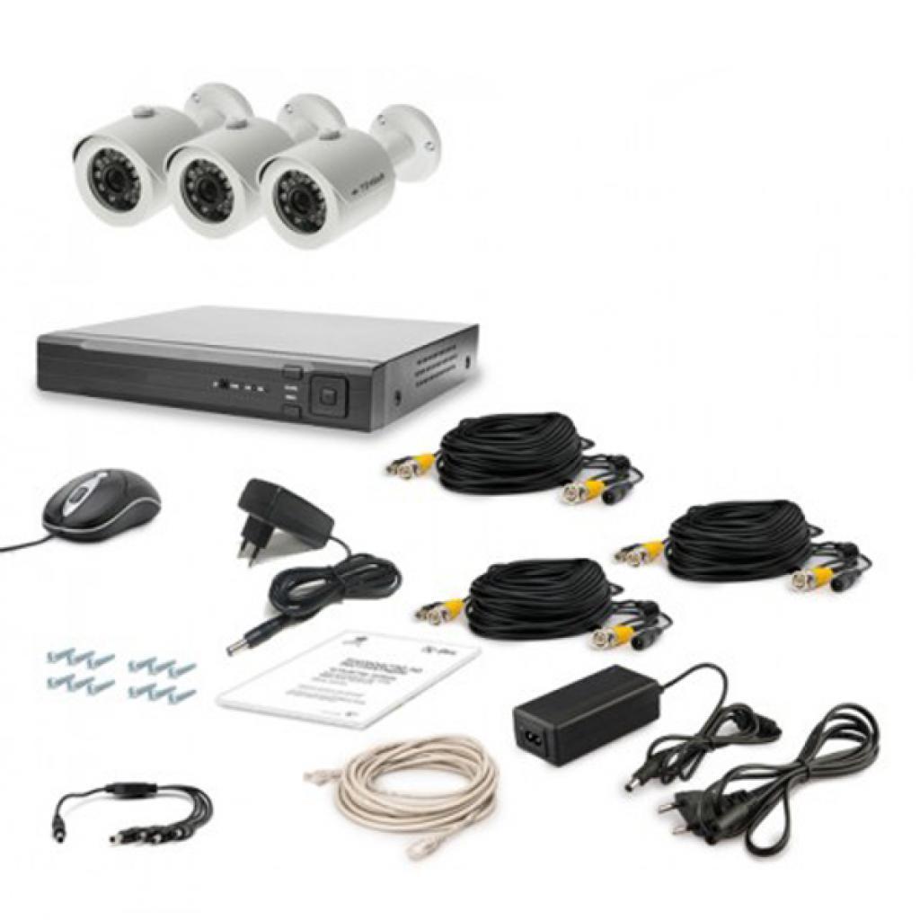 Комплект видеонаблюдения Tecsar AHD 3OUT LUX (6639)