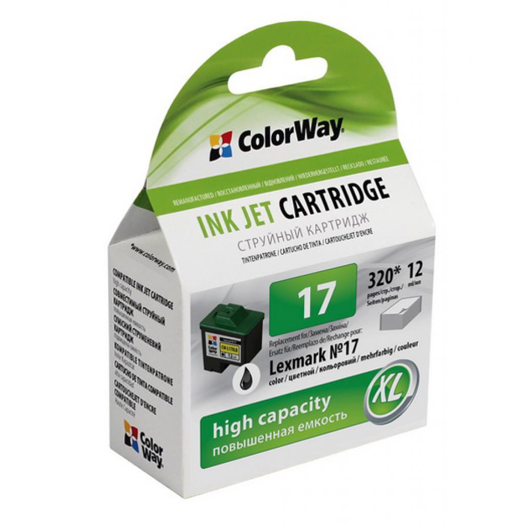 Картридж ColorWay LEXMARK 10N0217 (№17XL) black (CW-L17XLB)
