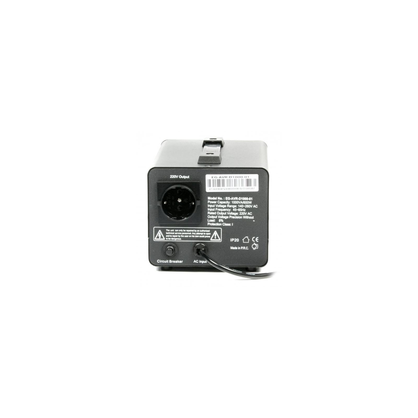 Стабилизатор EnerGenie EG-AVR-D1000-01, 600Вт (EG-AVR-D1000-01) изображение 2