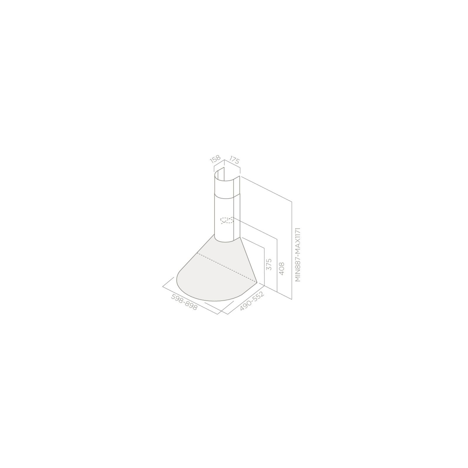 Вытяжка кухонная Elica TONDA WH F/60 изображение 2