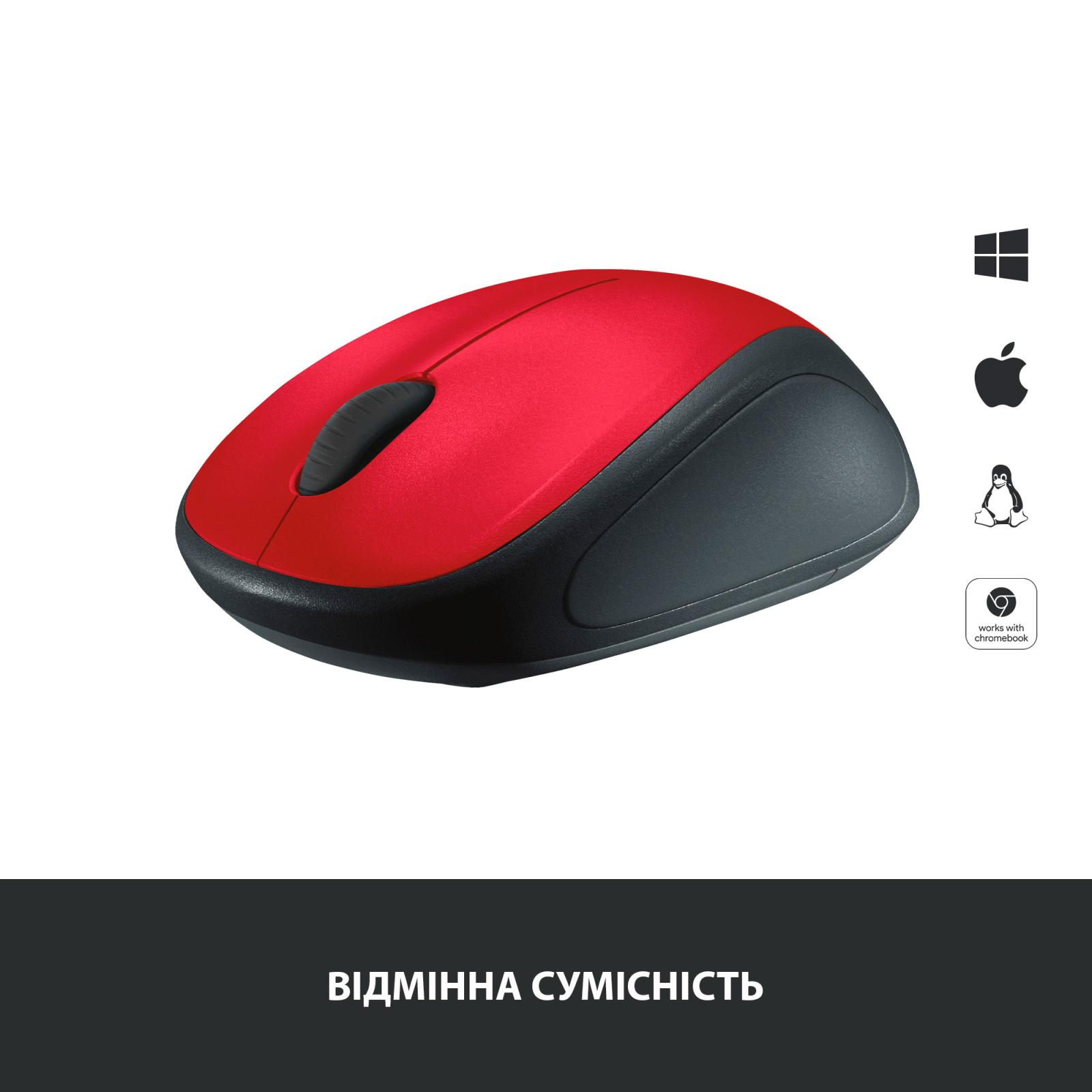 Мышка Logitech M235 Red (910-002496) изображение 3