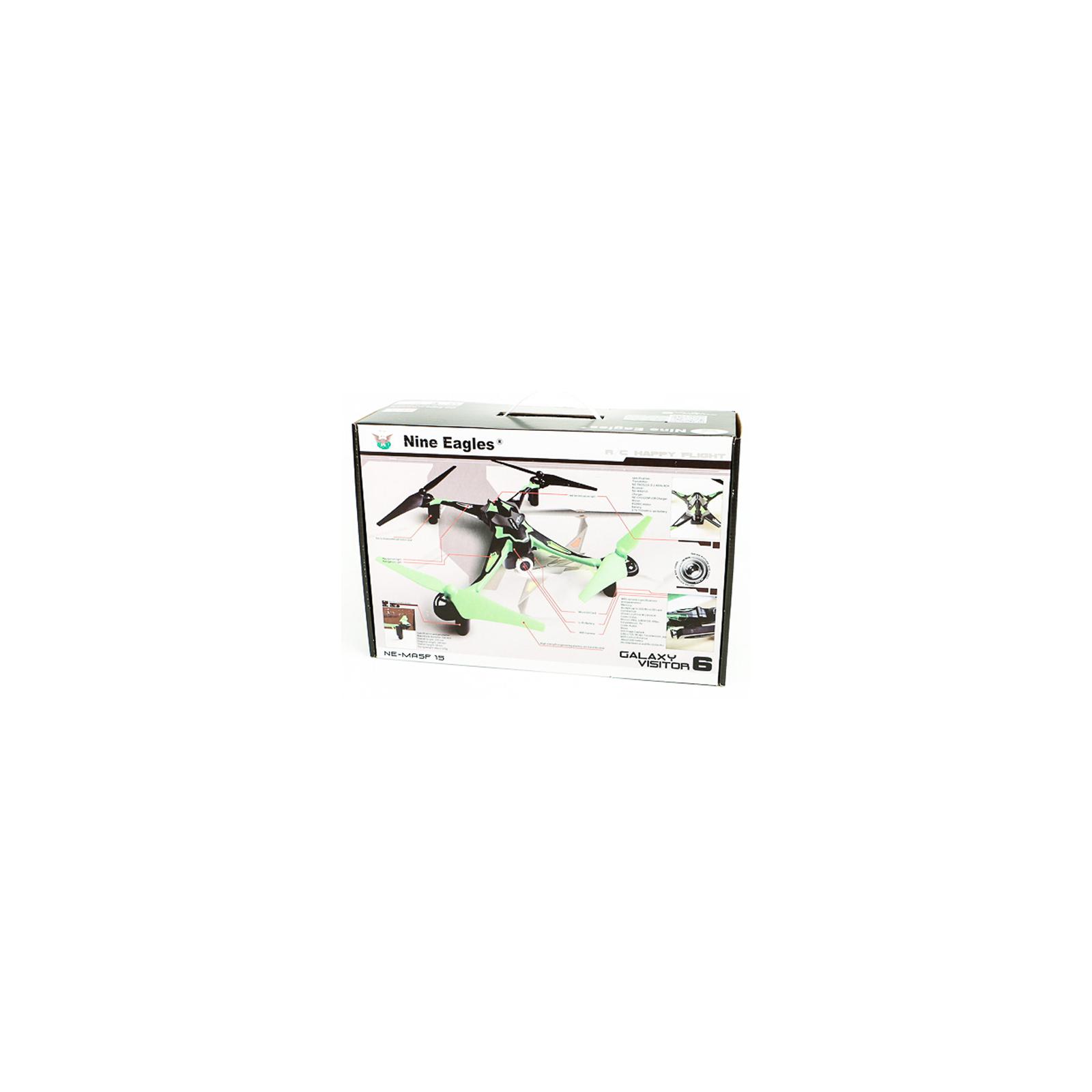 Квадрокоптер Nine Eagles Galaxy Visitor 6 FPV 4CH с Wi-Fi камерой зеленый (NE201890) изображение 6