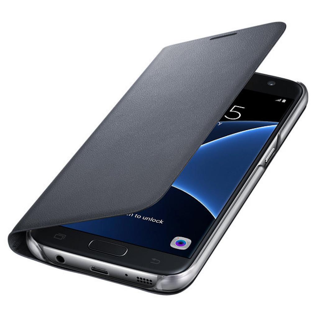 Чехол для моб. телефона Samsung Galaxy S7/Black/View Cover (EF-NG930PBEGRU) изображение 3