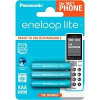 Аккумулятор PANASONIC Eneloop Lite AAA 550mAh NI-MH Dect Series * 3 (BK-4LCCE/3DE)