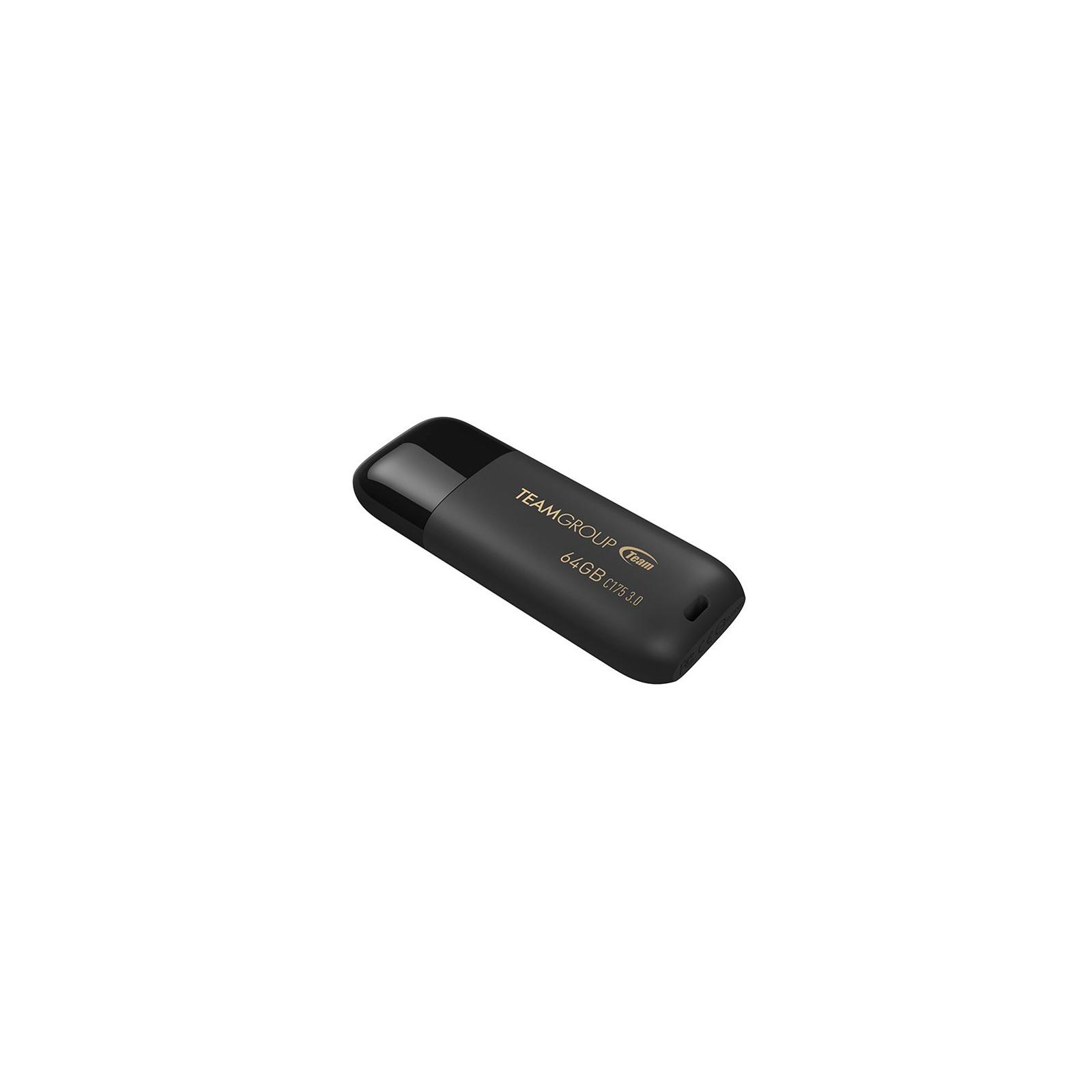USB флеш накопитель Team 16GB C175 Pearl Black USB 3.1 (TC175316GB01) изображение 3