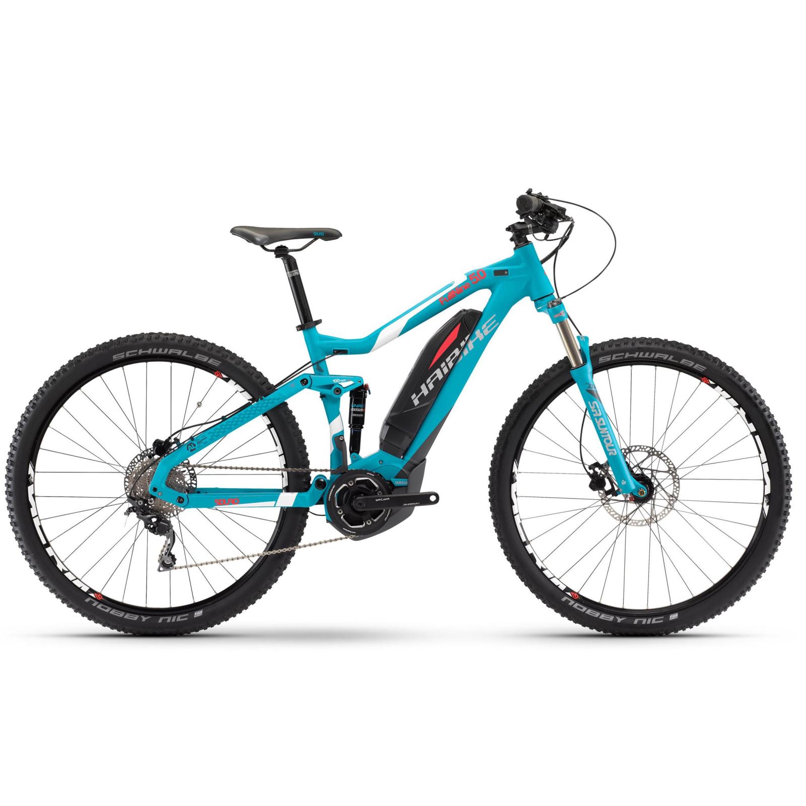 Электровелосипед Haibike SDURO FullNine 5.0 400Wh, 2017, рама 55см, синий, ход:100мм (4544510755)