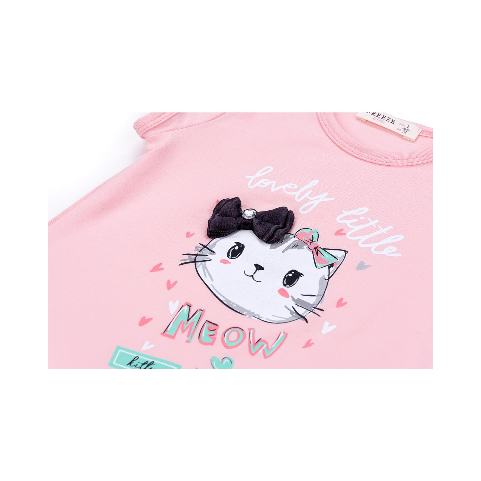 Набор детской одежды Breeze с котиками (7493-80G-pink) изображение 9