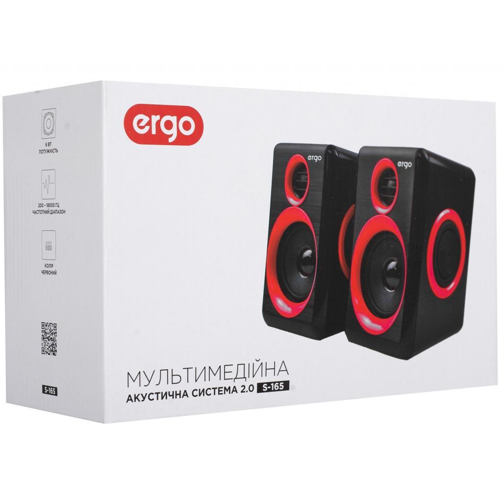 Акустическая система Ergo S-165 Red/Black изображение 7