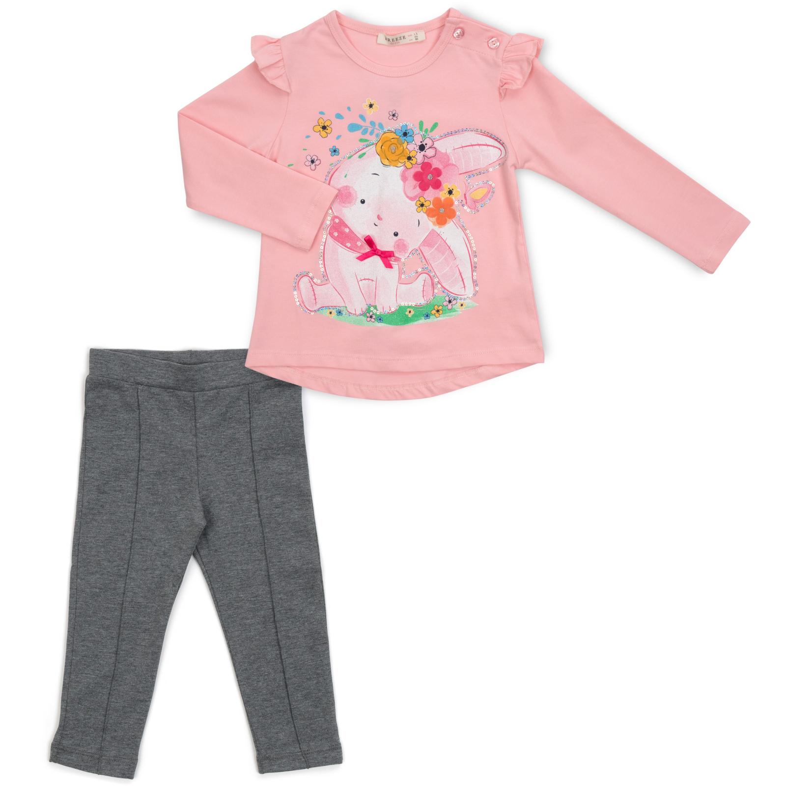 Набор детской одежды Breeze с зайчиком в цветах (13299-92G-pink)