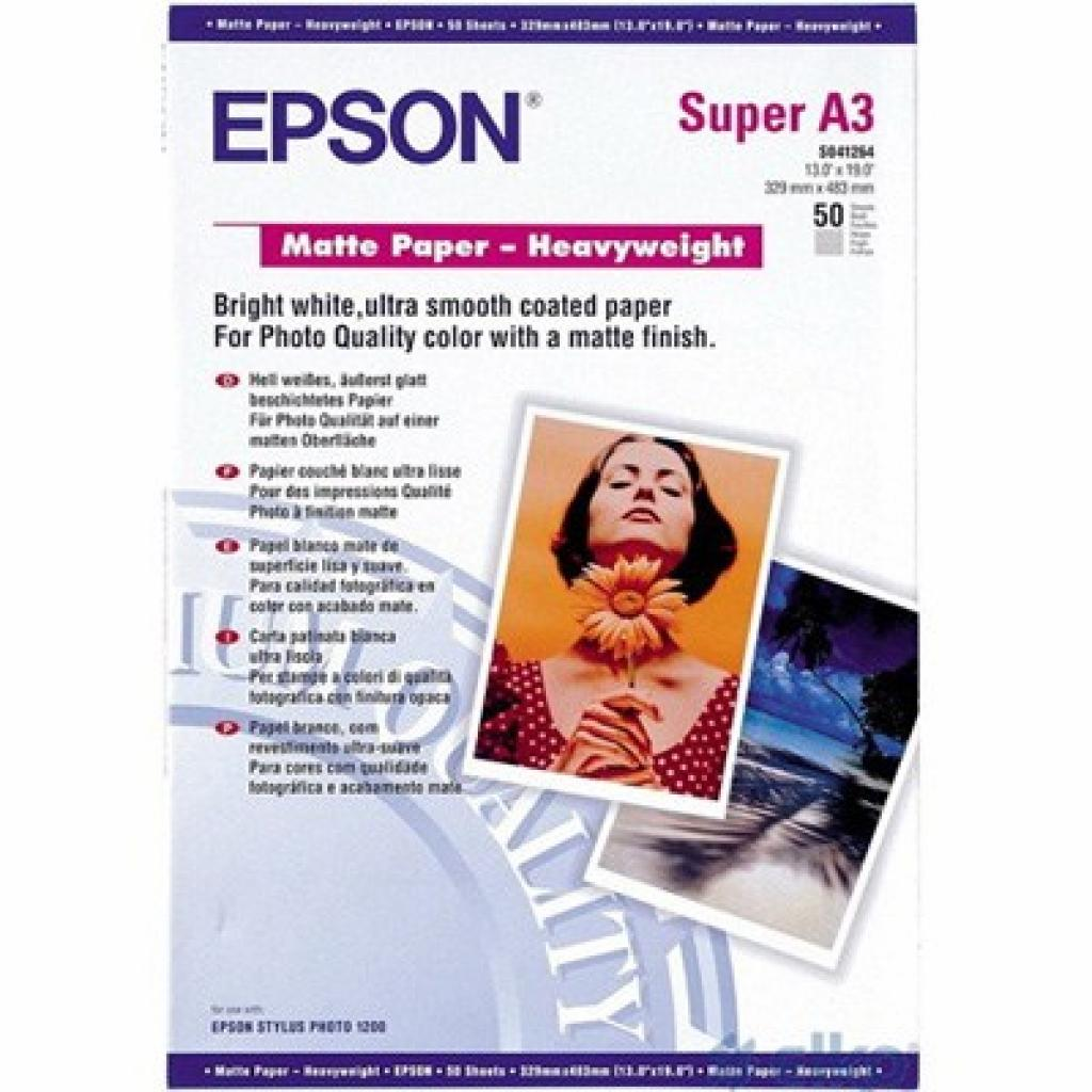 Бумага EPSON A3+ Matte Paper-Heavyweight (C13S041264)
