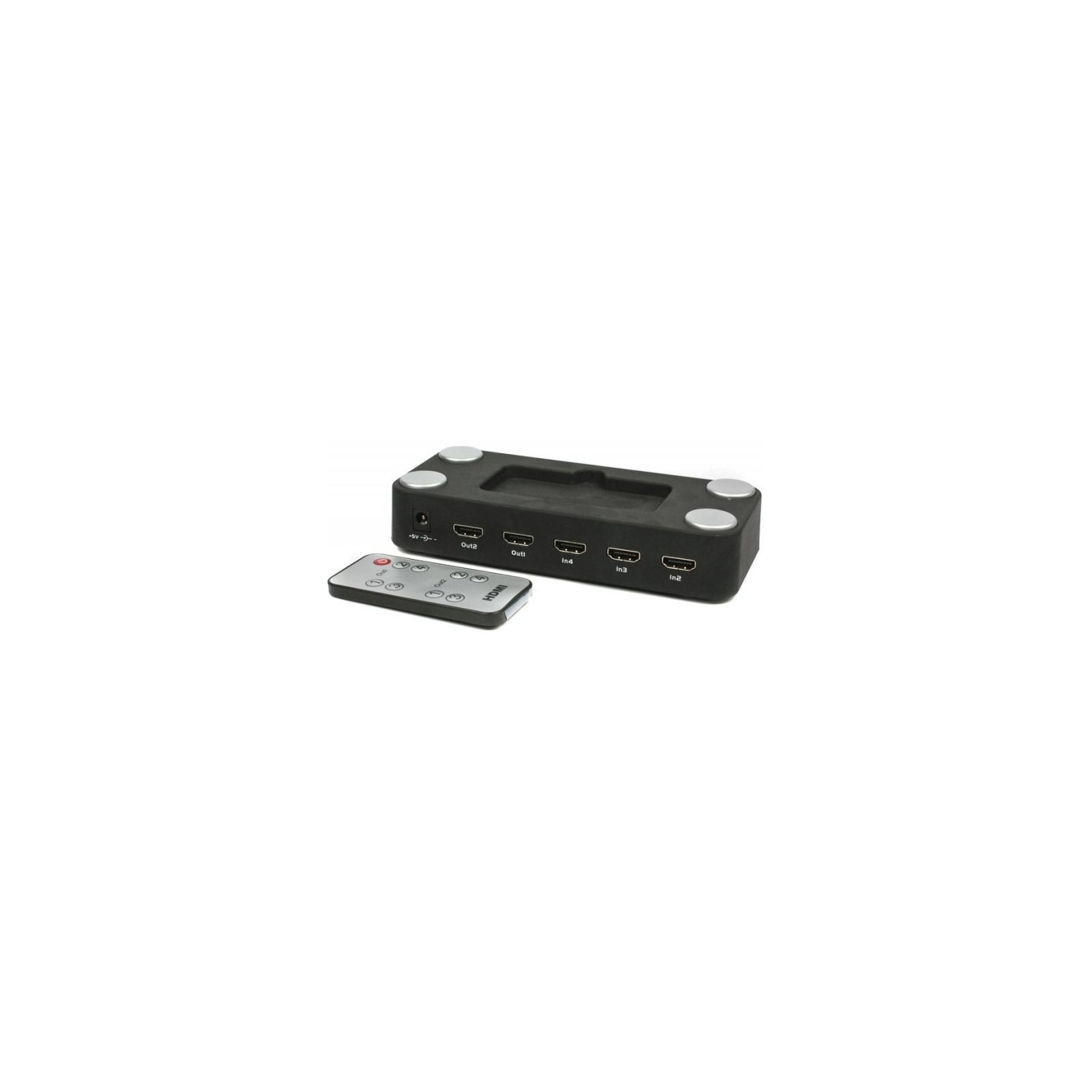 Коммутатор видео HDMI, матричный (4 вх, 2 вых) Viewcon (VE431) изображение 2