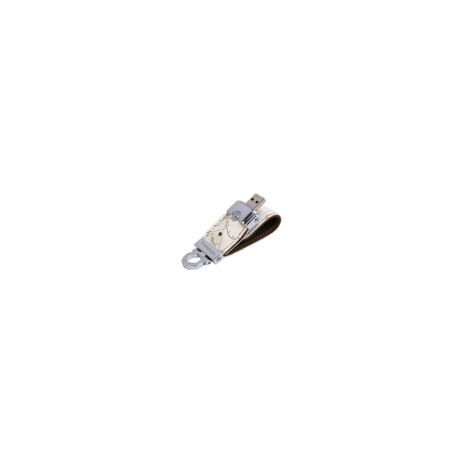 USB флеш накопитель 16Gb Leather Flash White PRESTIGIO (PLDF16MPWHA)