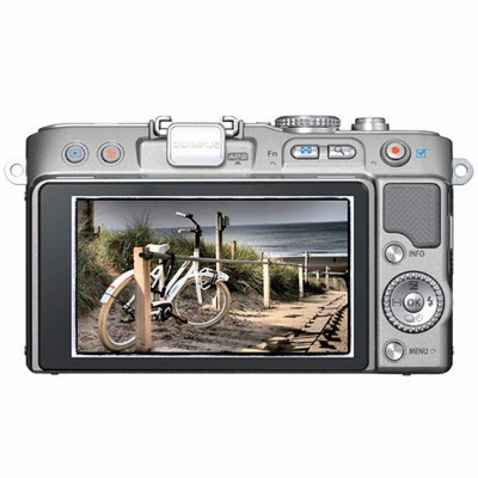 Цифровой фотоаппарат OLYMPUS PEN E-PL3 12-50 mm kit silver/silver (V20503FSE000) изображение 2
