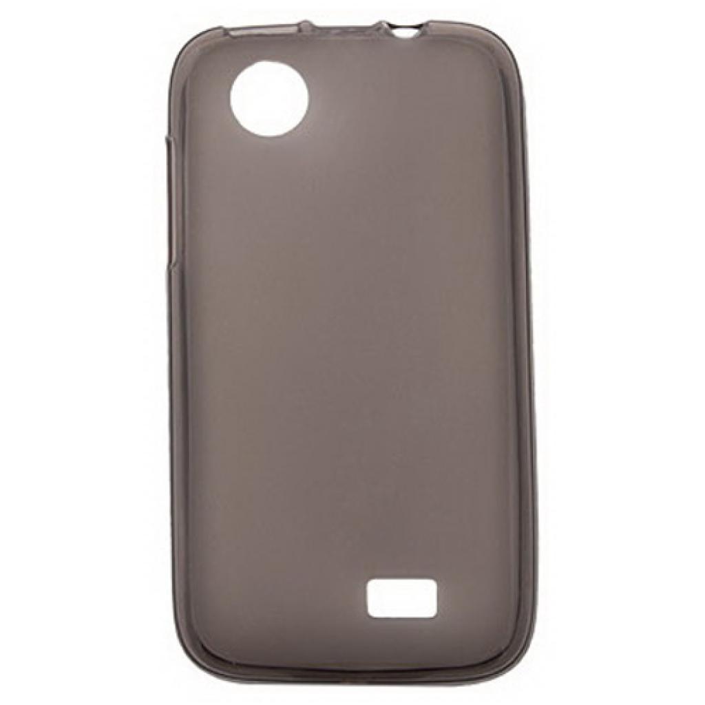 Чехол для моб. телефона Drobak для Lenovo A369 /Elastic PU/Black-Clear (211409)